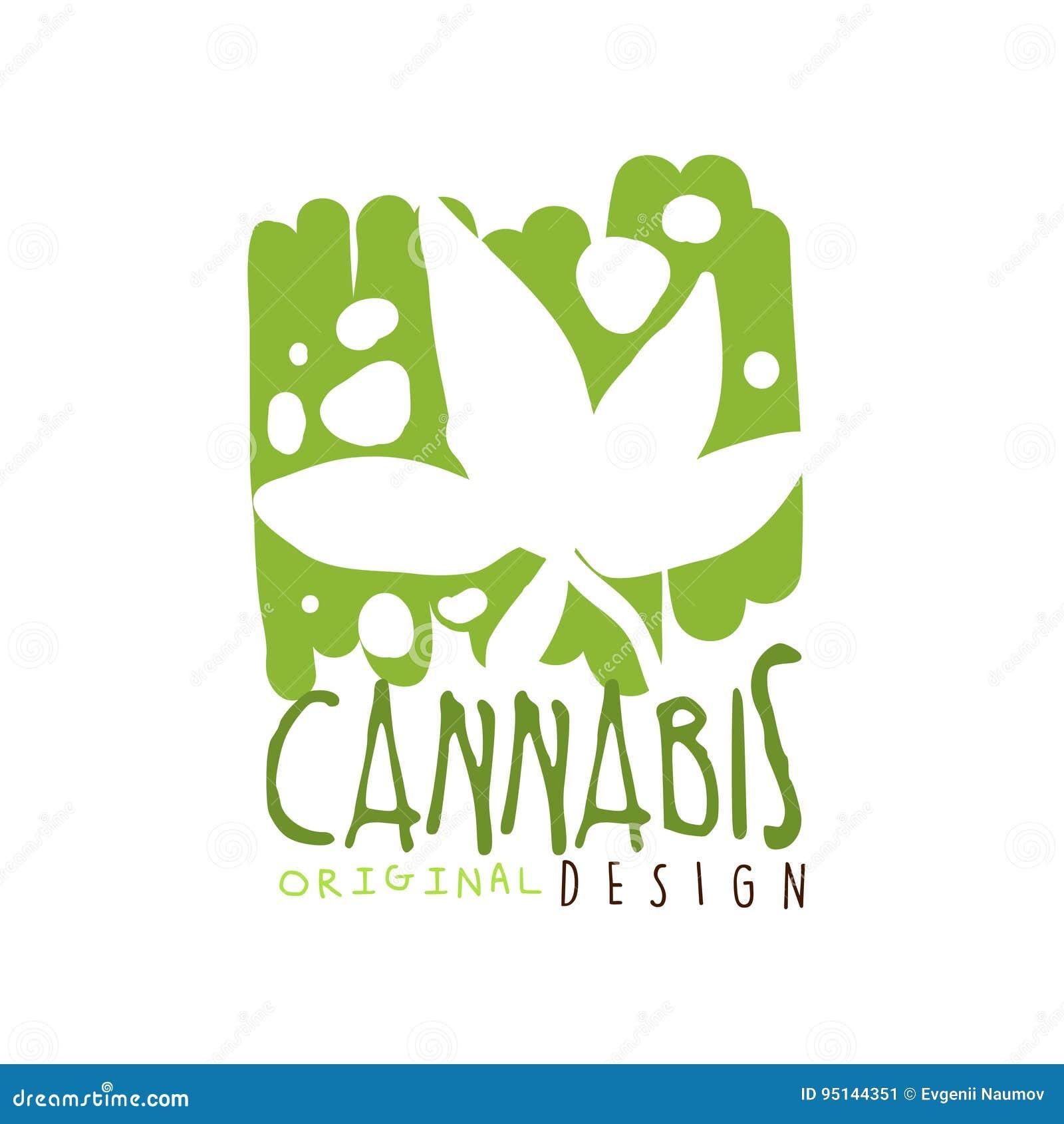 Los Cáñamos Etiquetan El Diseño Original, Ejemplo Dibujado Mano ...