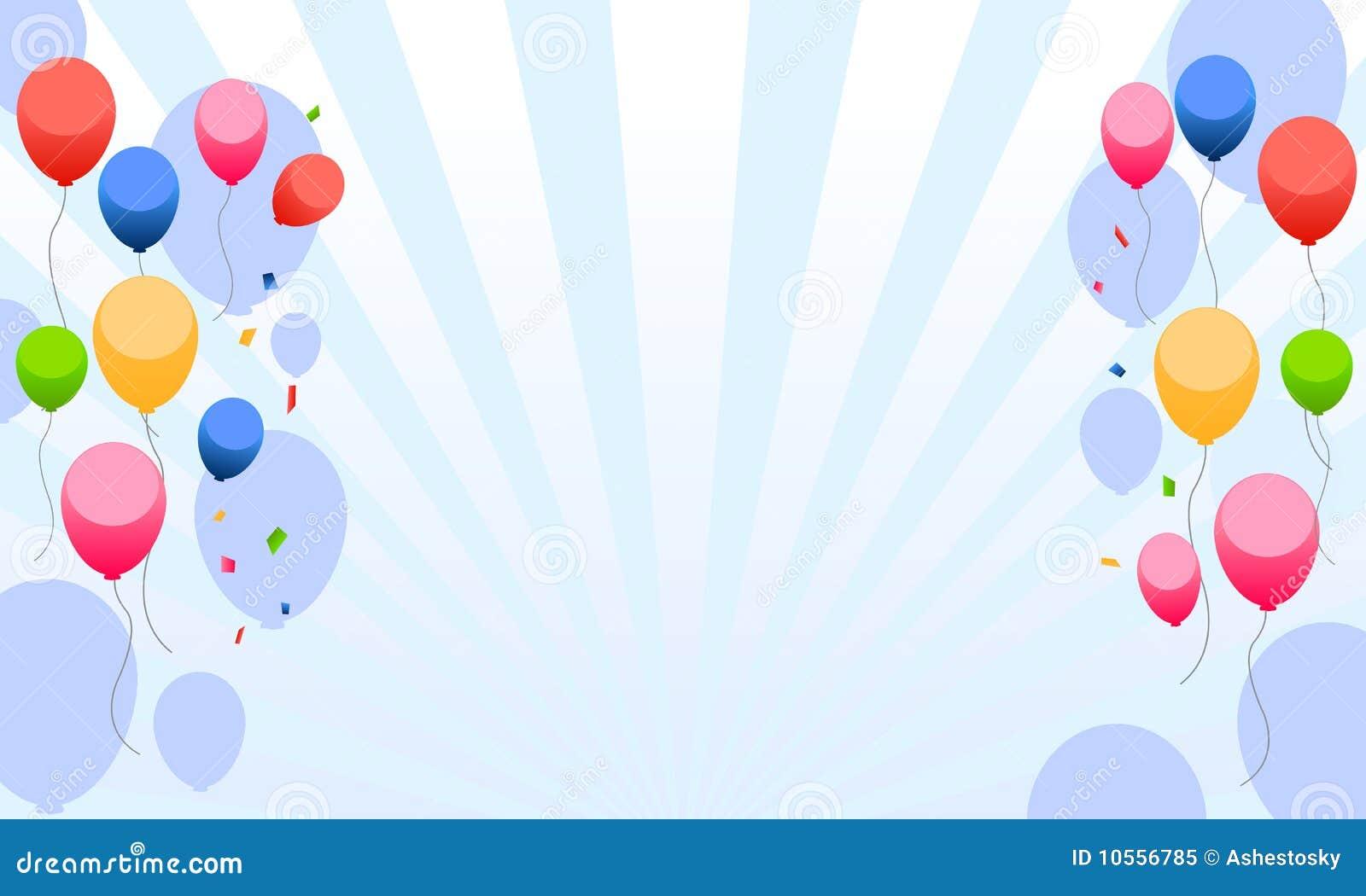 Los cabritos party con el fondo de los globos
