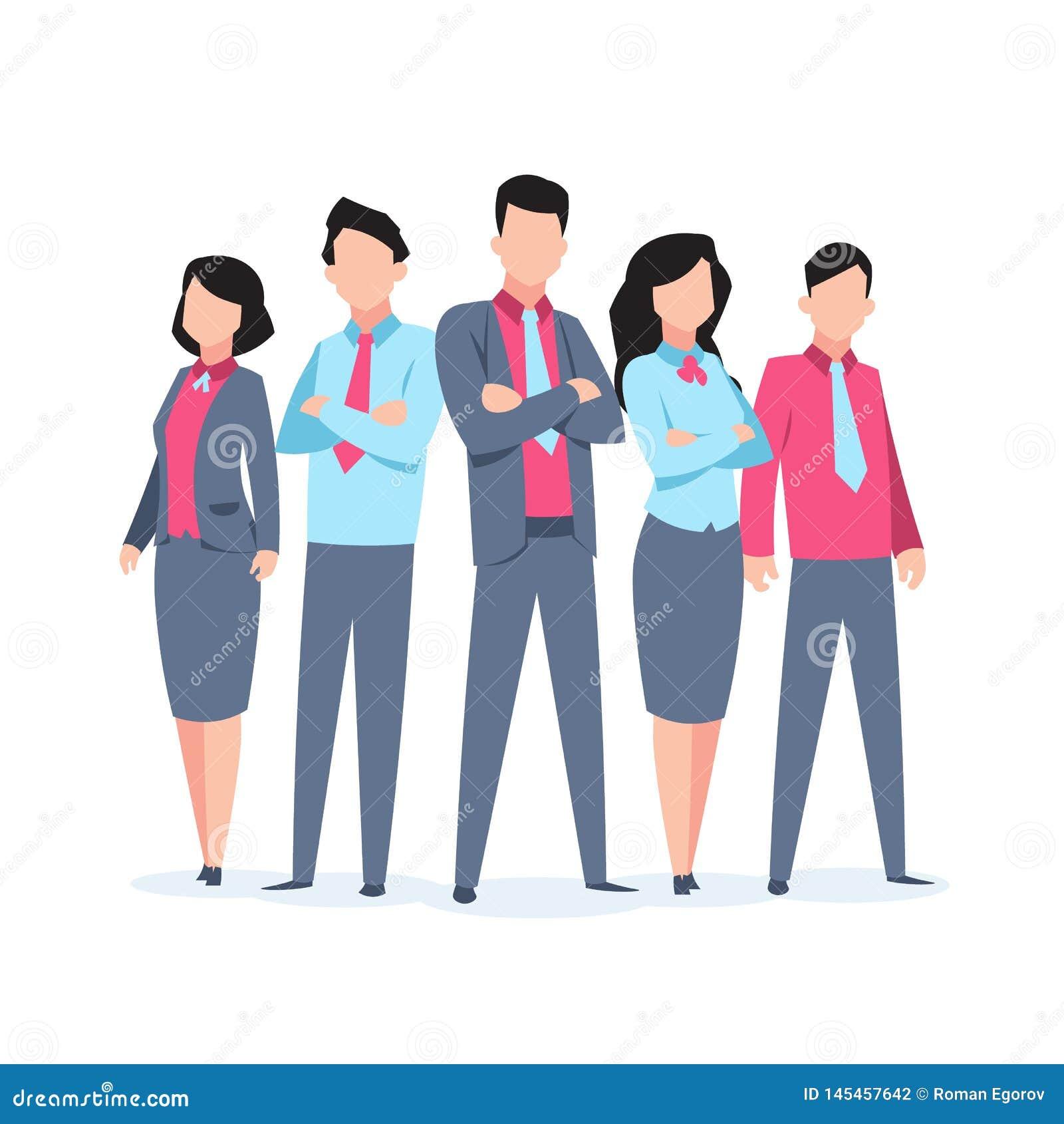 Los caracteres del negocio combinan el trabajo Comunicación corporativa del trabajo en equipo de la historieta del empleado de l