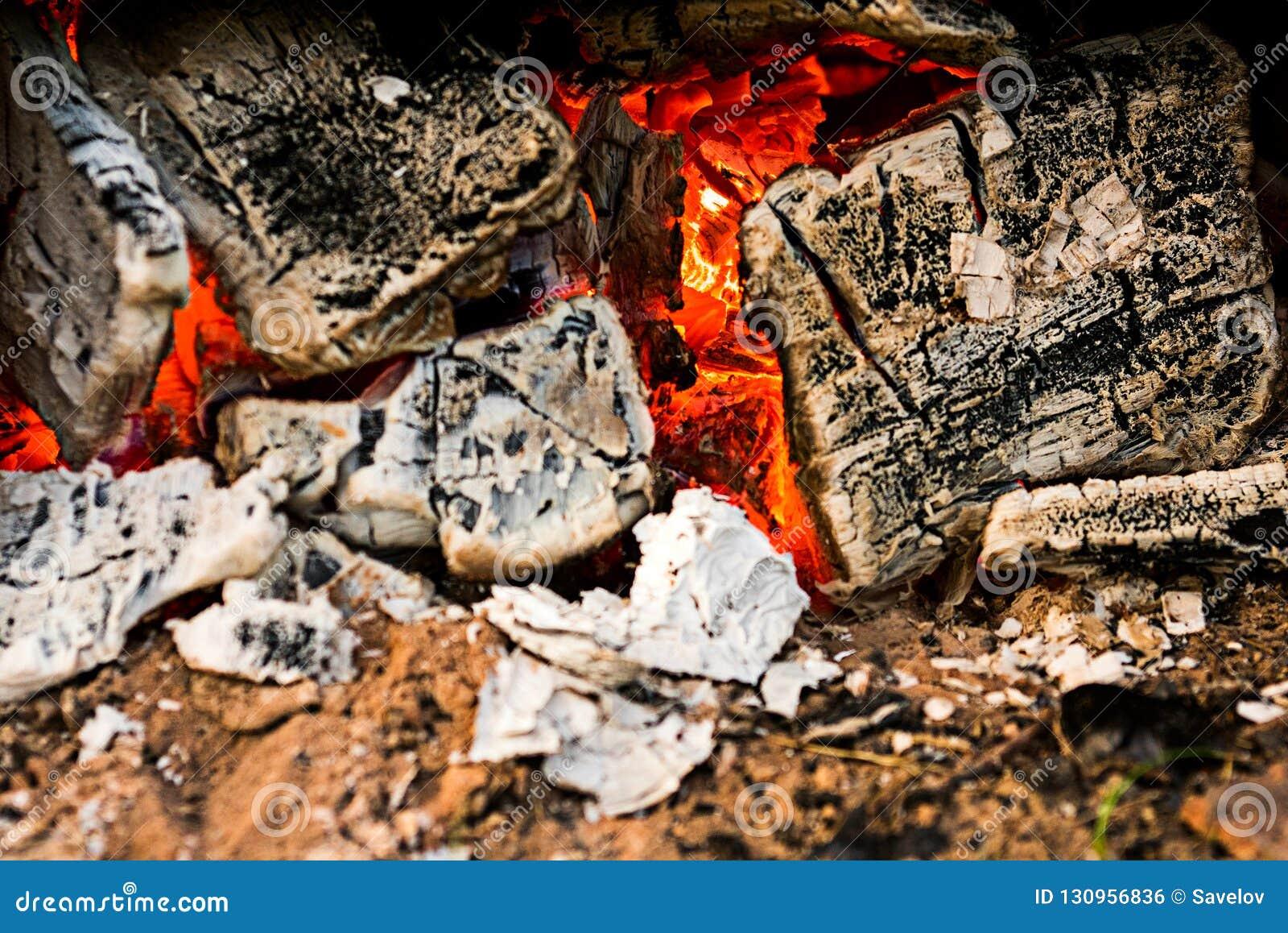 Los carbones en el fuego son macros
