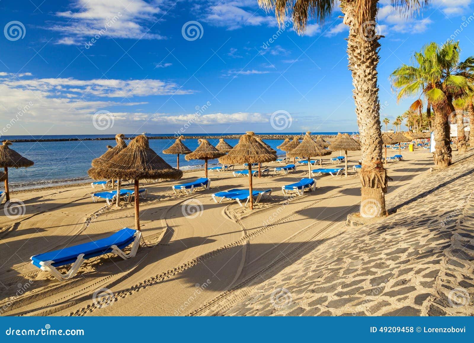 Los Cristianos Strand Stockfoto Bild Von Freizeit