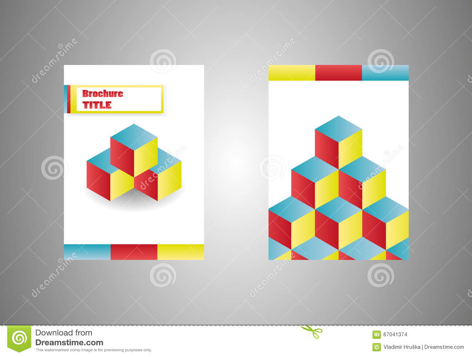Los Cubos Isométricos Vector El Folleto Del Negocio, Plantilla De La ...