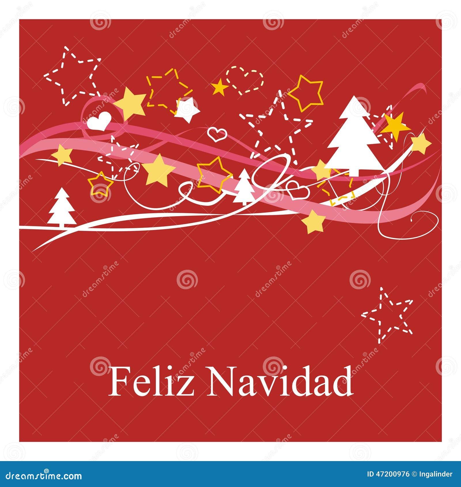 Los d as de fiesta cardan con deseos del espanol feliz - Deseos de feliz navidad ...