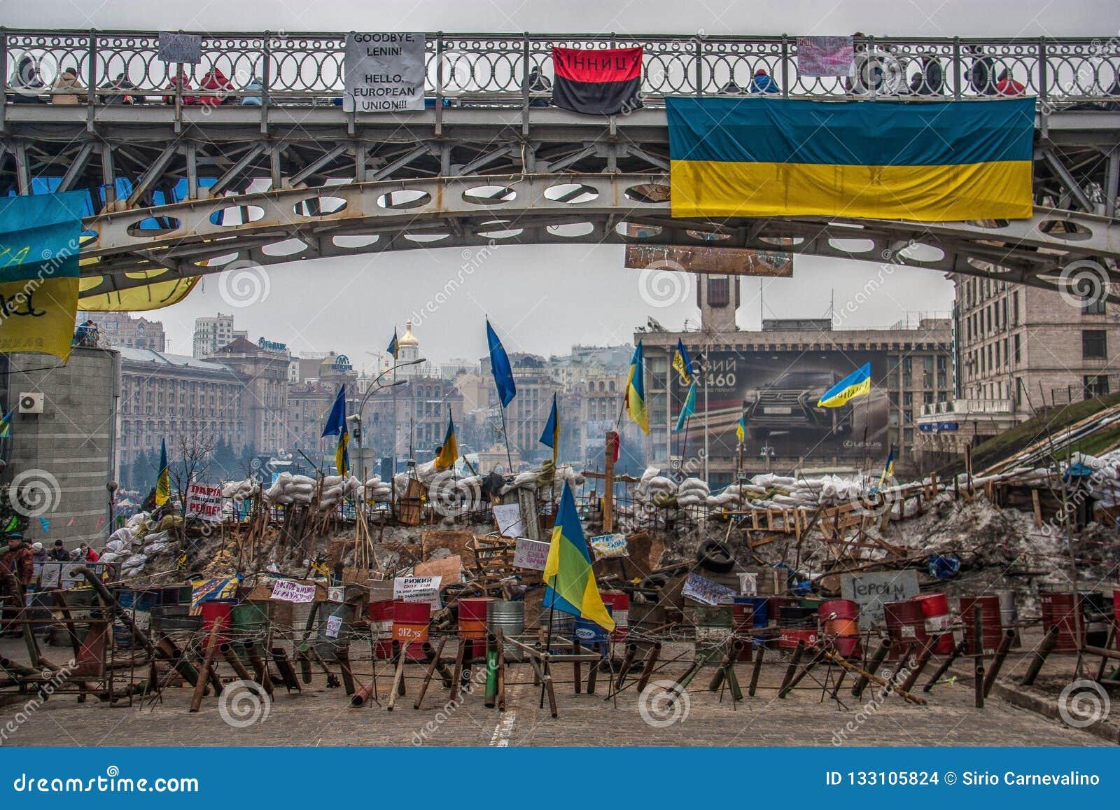 Los días de la protesta de Euromaidan, Kiev
