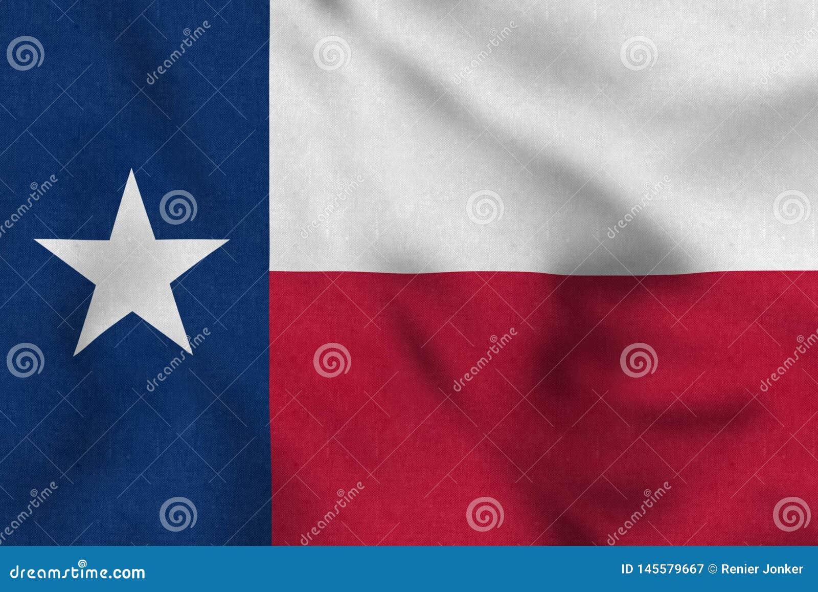 Los E.E.U.U. señalan por medio de una bandera de Tejas que agita suavemente en el viento