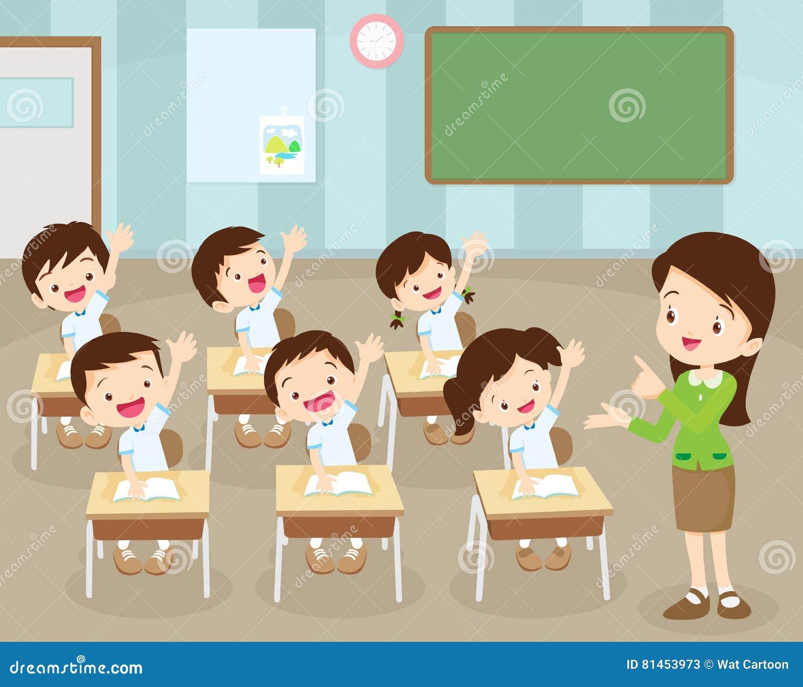 Los estudiantes dan para arriba en sala de clase
