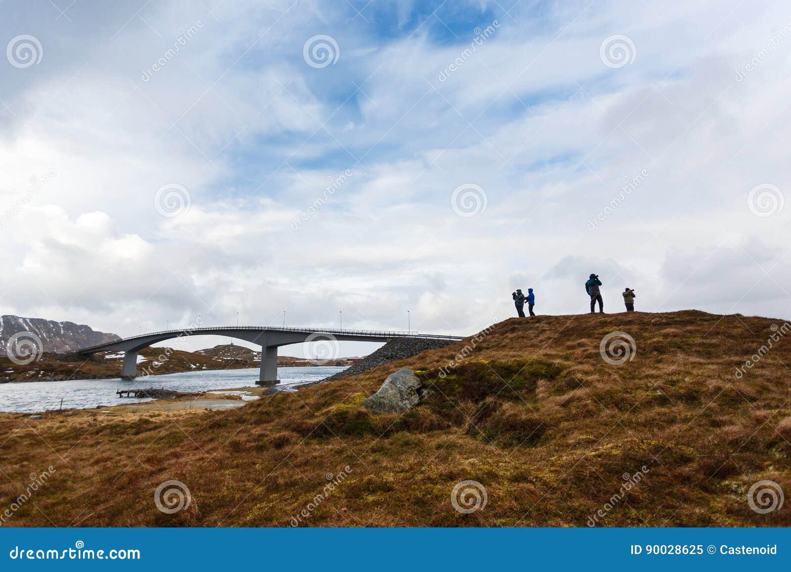 Los fotógrafos están viajando a Lofoten