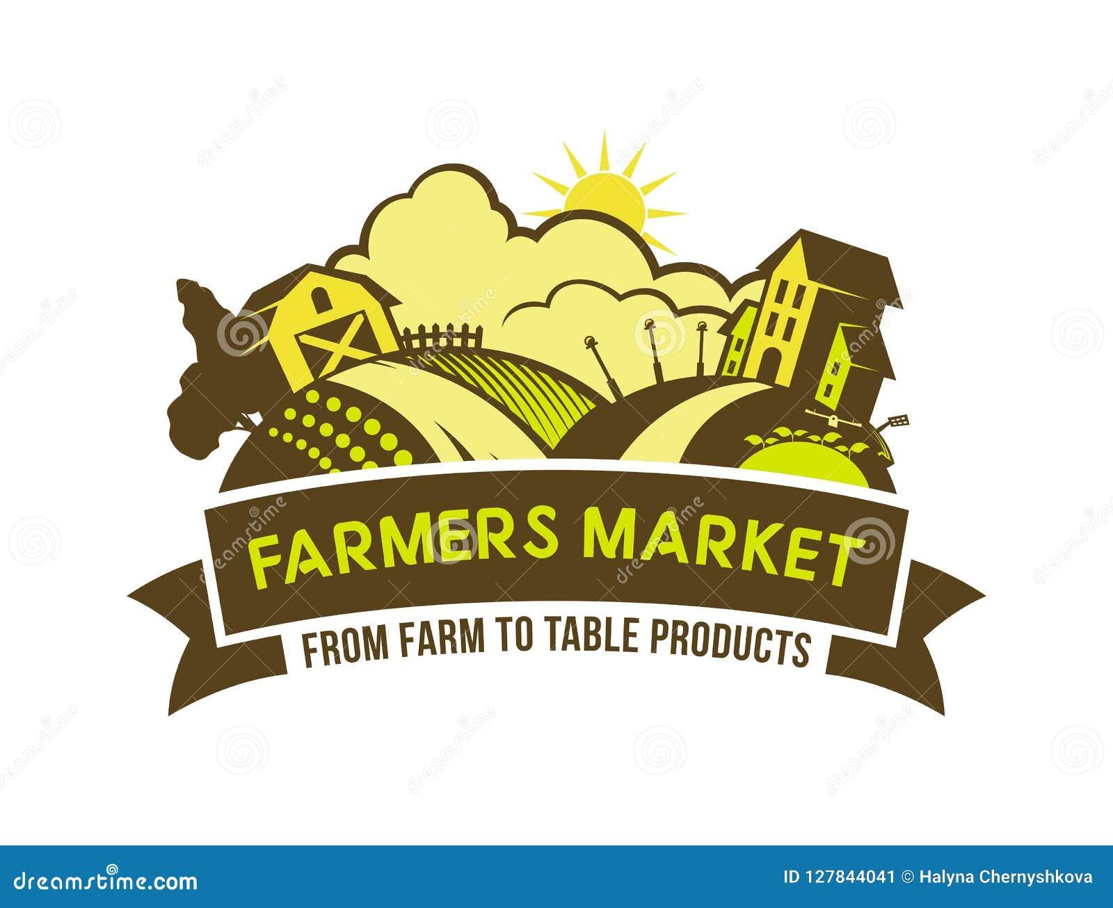 Los granjeros comercializan de granja para presentar el emblema