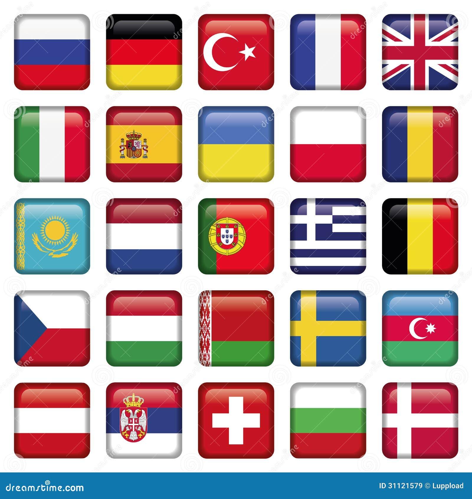 los iconos de europa ajustaron banderas im genes de