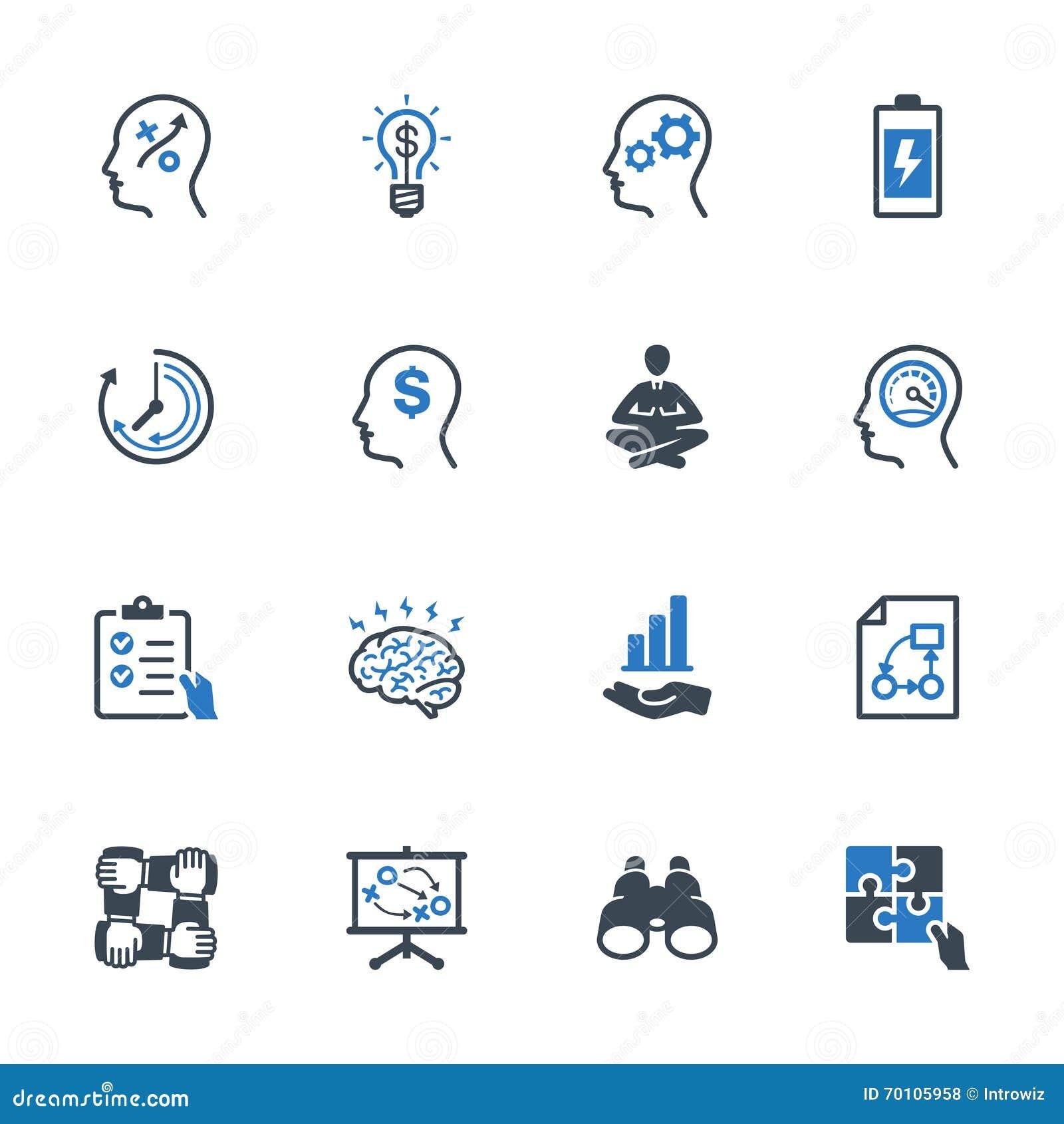 Los iconos de la mejora de productividad fijaron 2 - serie azul