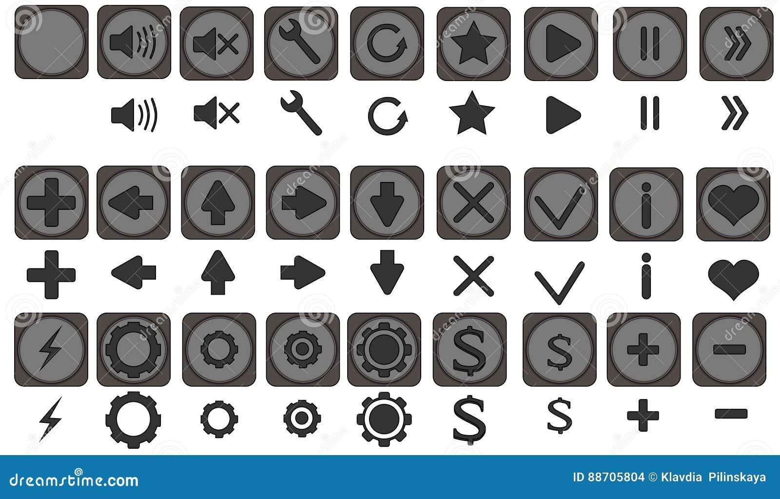 Los iconos de Qualiti fijaron, los iconos completos pac, iconos para los apps, juego, interfaz móvil, flechas, remiten detrás, iz