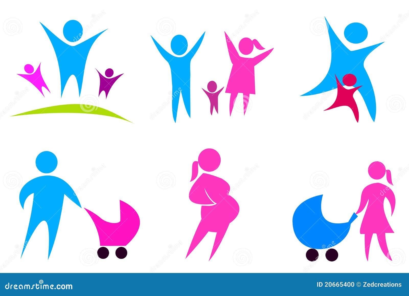 Los iconos del concepto de familia fijaron 02 ilustraci n for Concepto de la familia para ninos