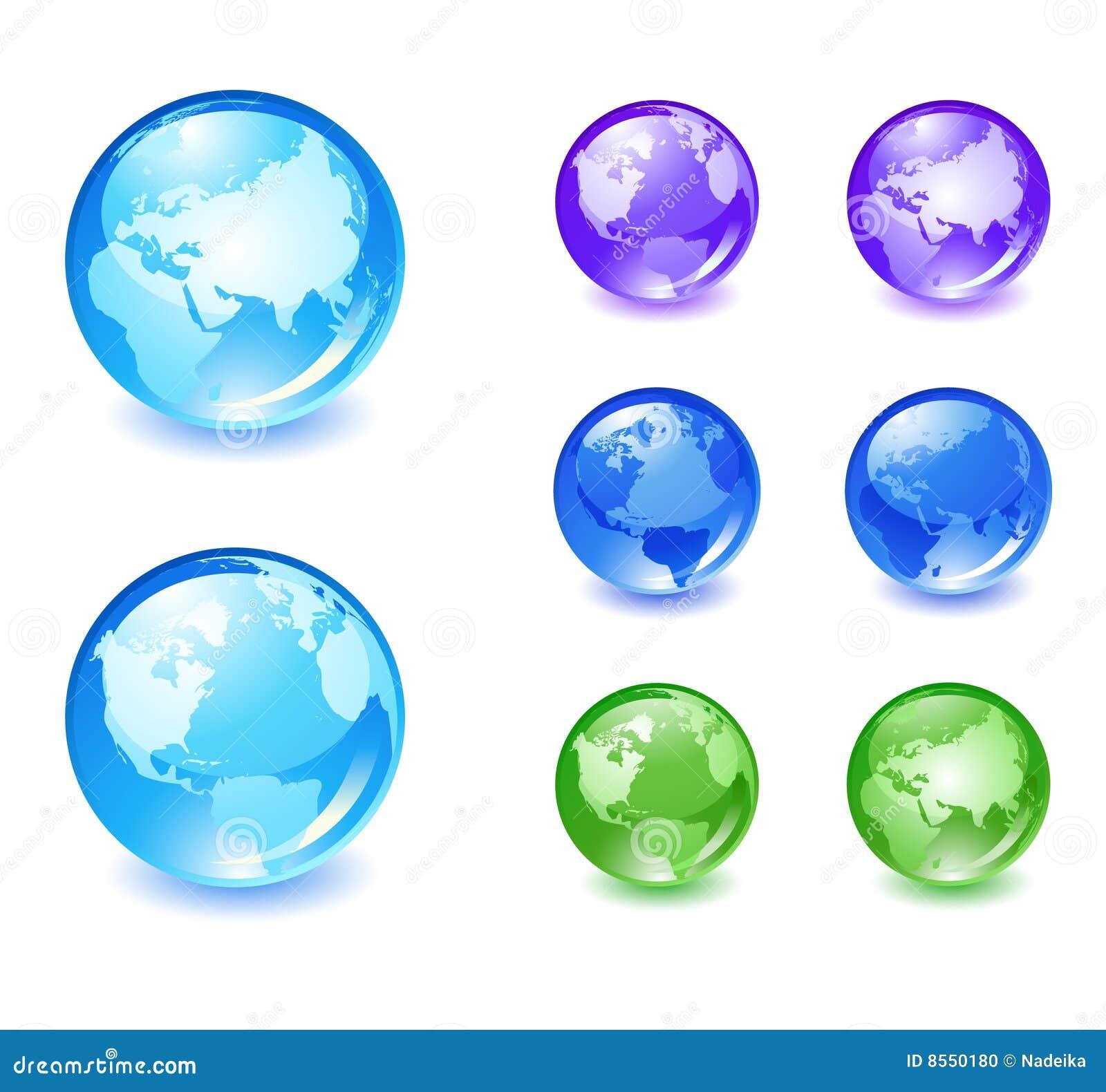 Los iconos del globo fijaron 2