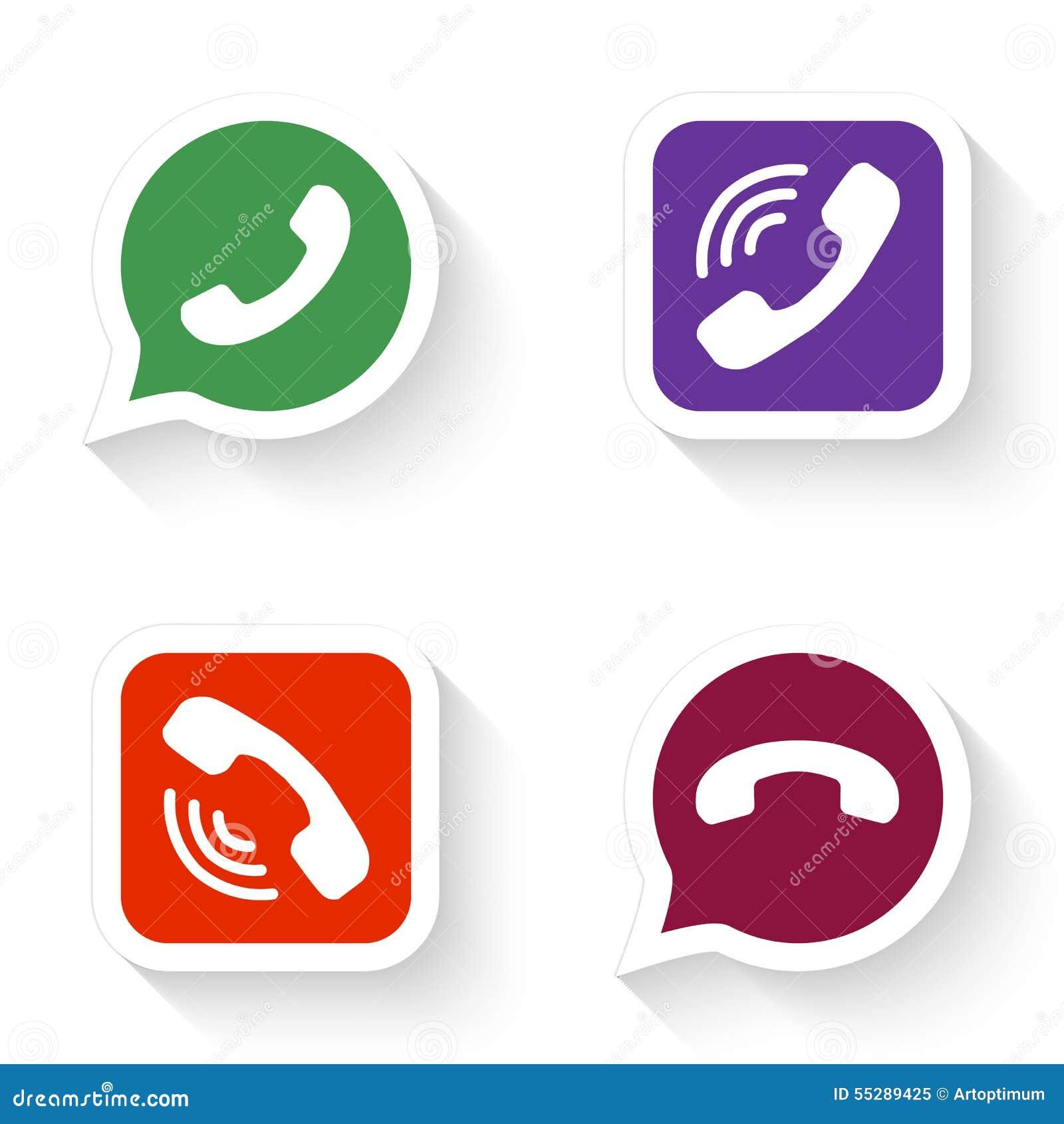 Los iconos del teléfono fijaron en burbuja y botón del discurso