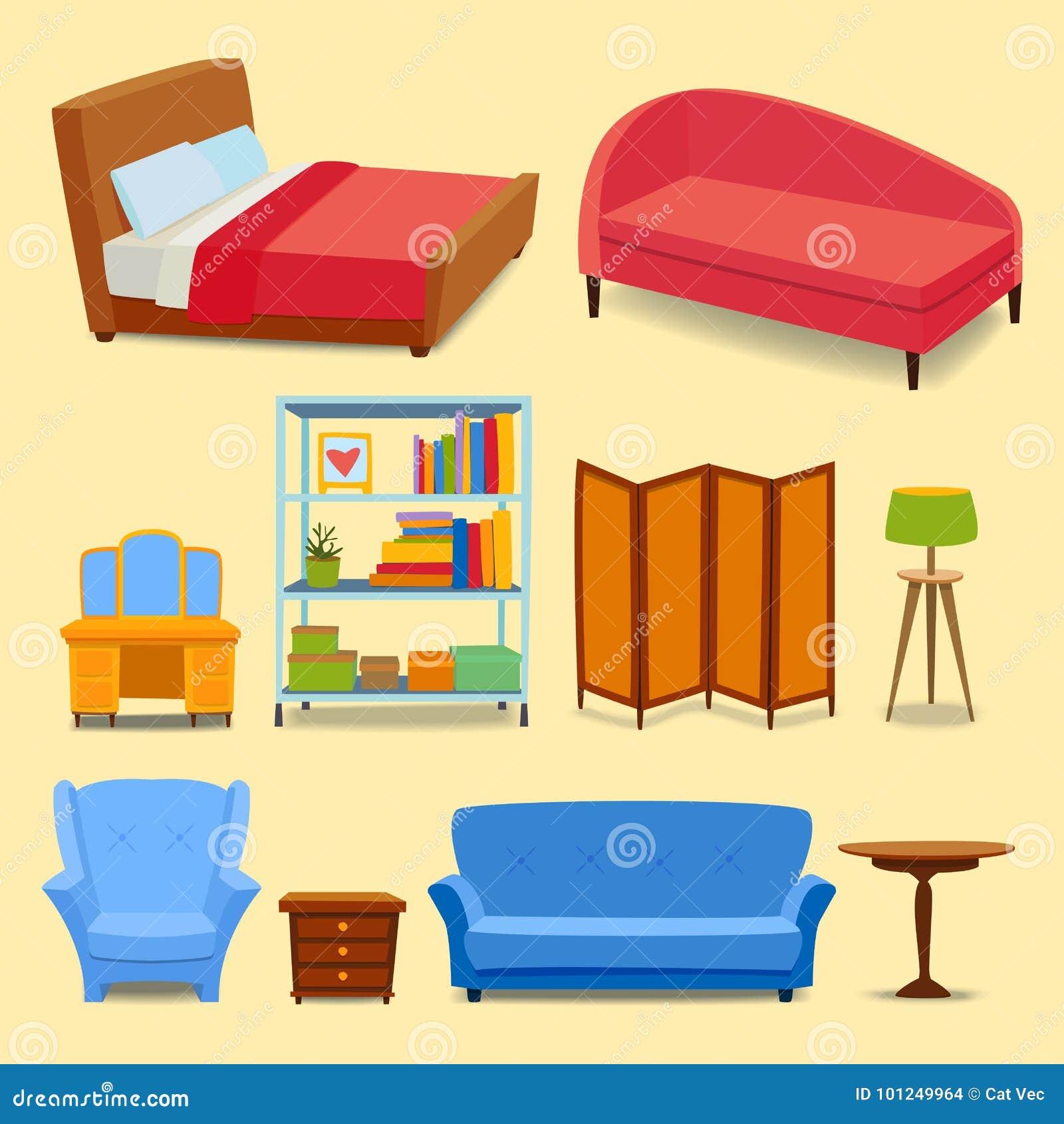 Los iconos interiores de los muebles se dirigen la sala de estar moderna del diseño