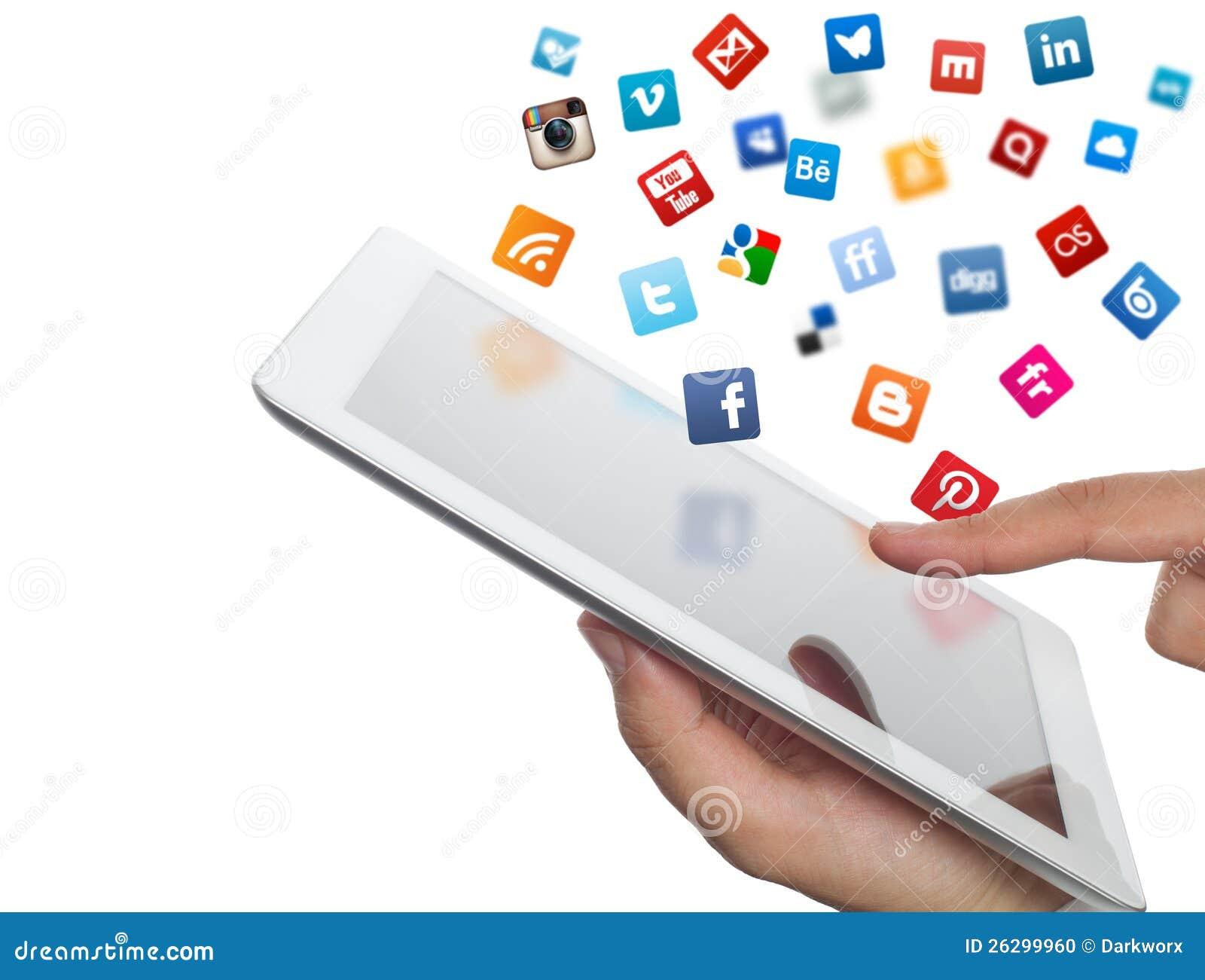 Los iconos sociales de los media vuelan del ipad a disposición