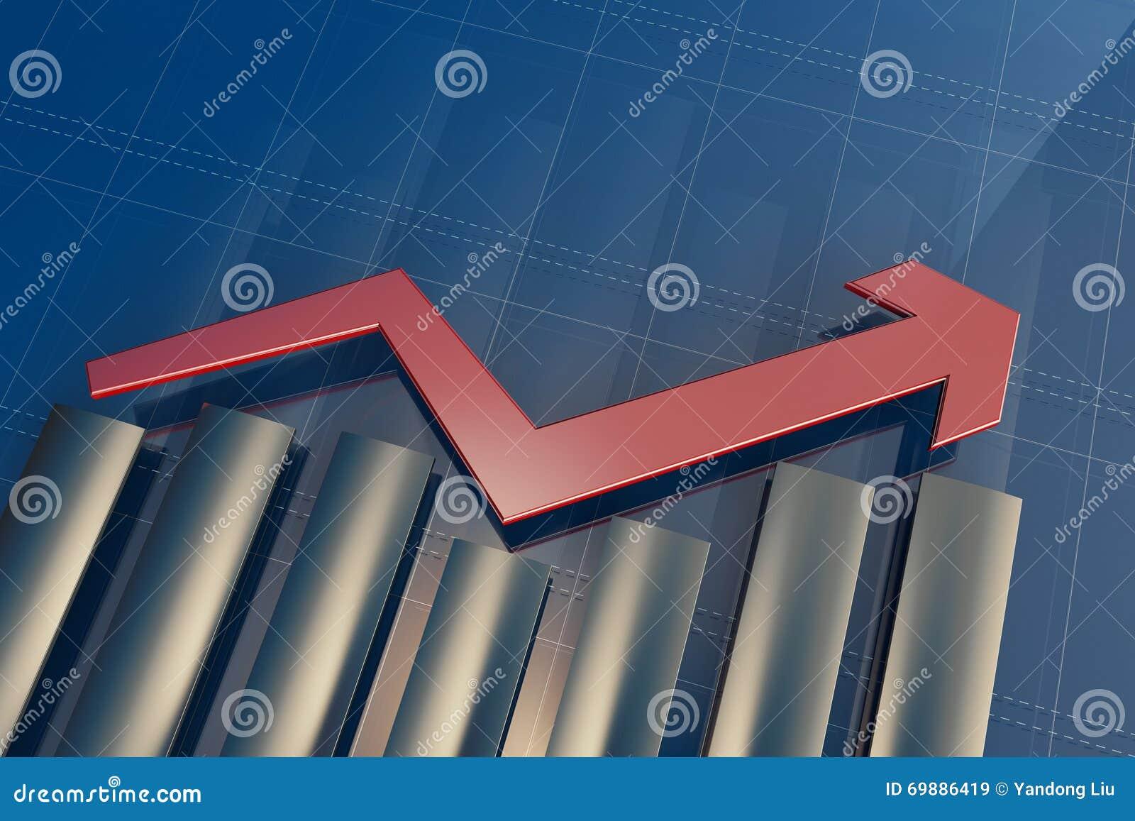 Los indicadores económicos y se mueven adelante con la flecha