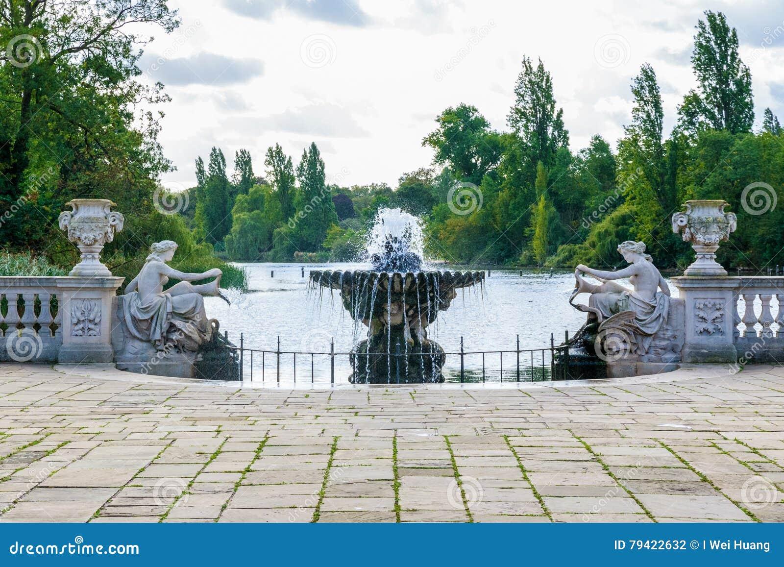 Los jardines italianos en hyde park foto de archivo for Jardines italianos
