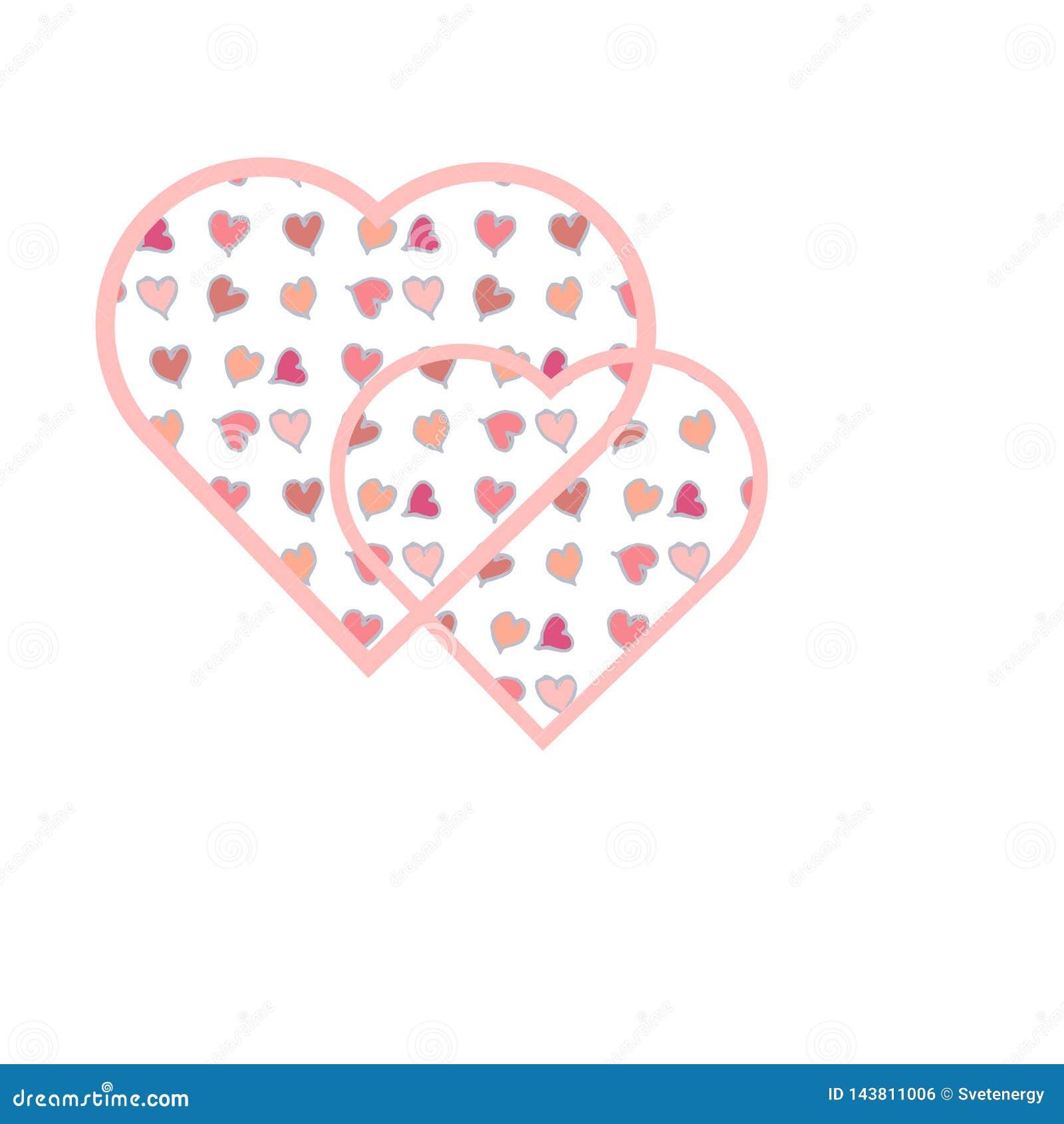 Los kleine Herzen innerhalb des gro?en Herzens