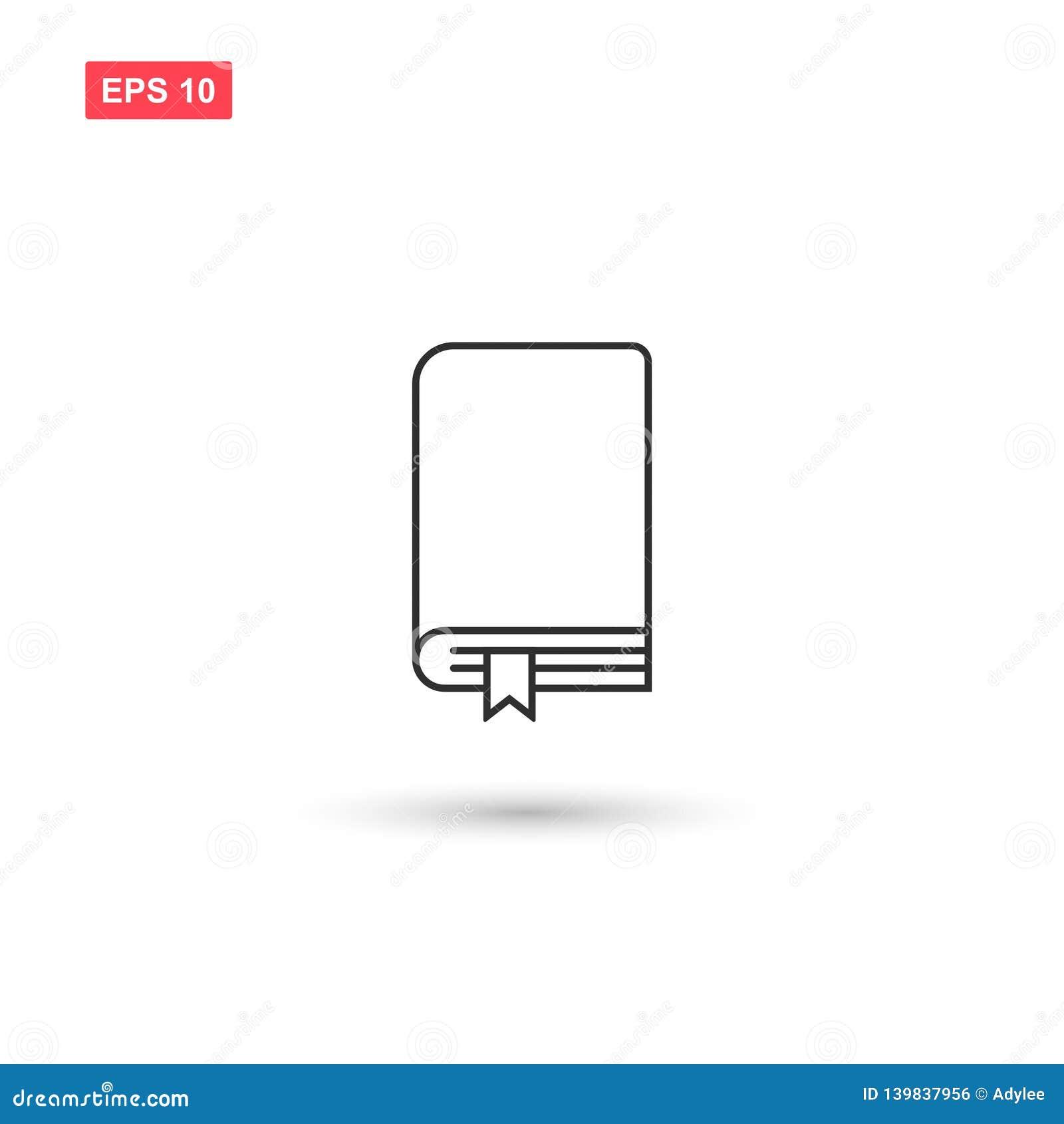Los libros marcan una dirección de la Internet diseño del vector del icono aislaron 4