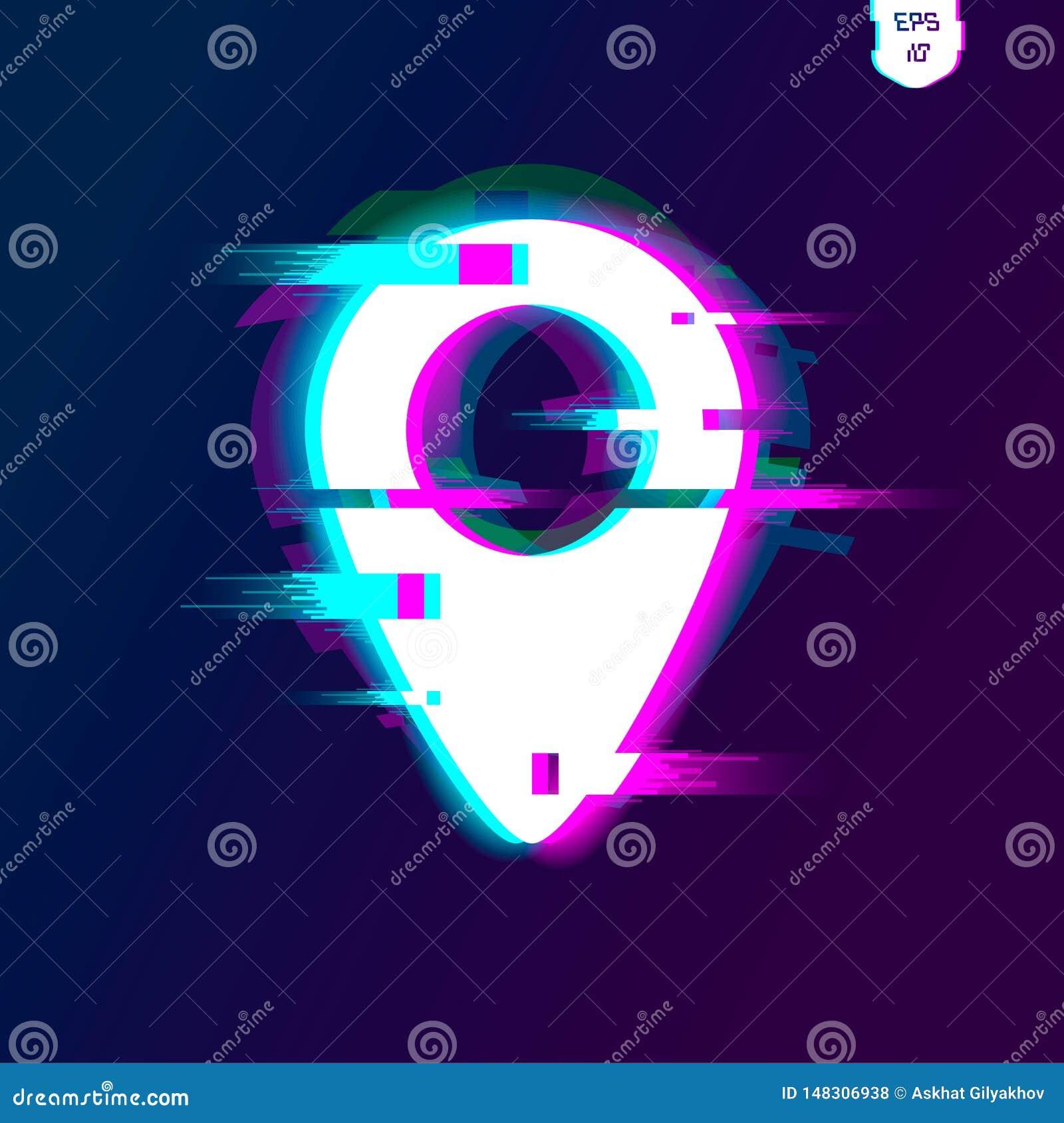 Los mapas fijan con efecto de la interferencia Indicador, flecha, marcador, geomarker