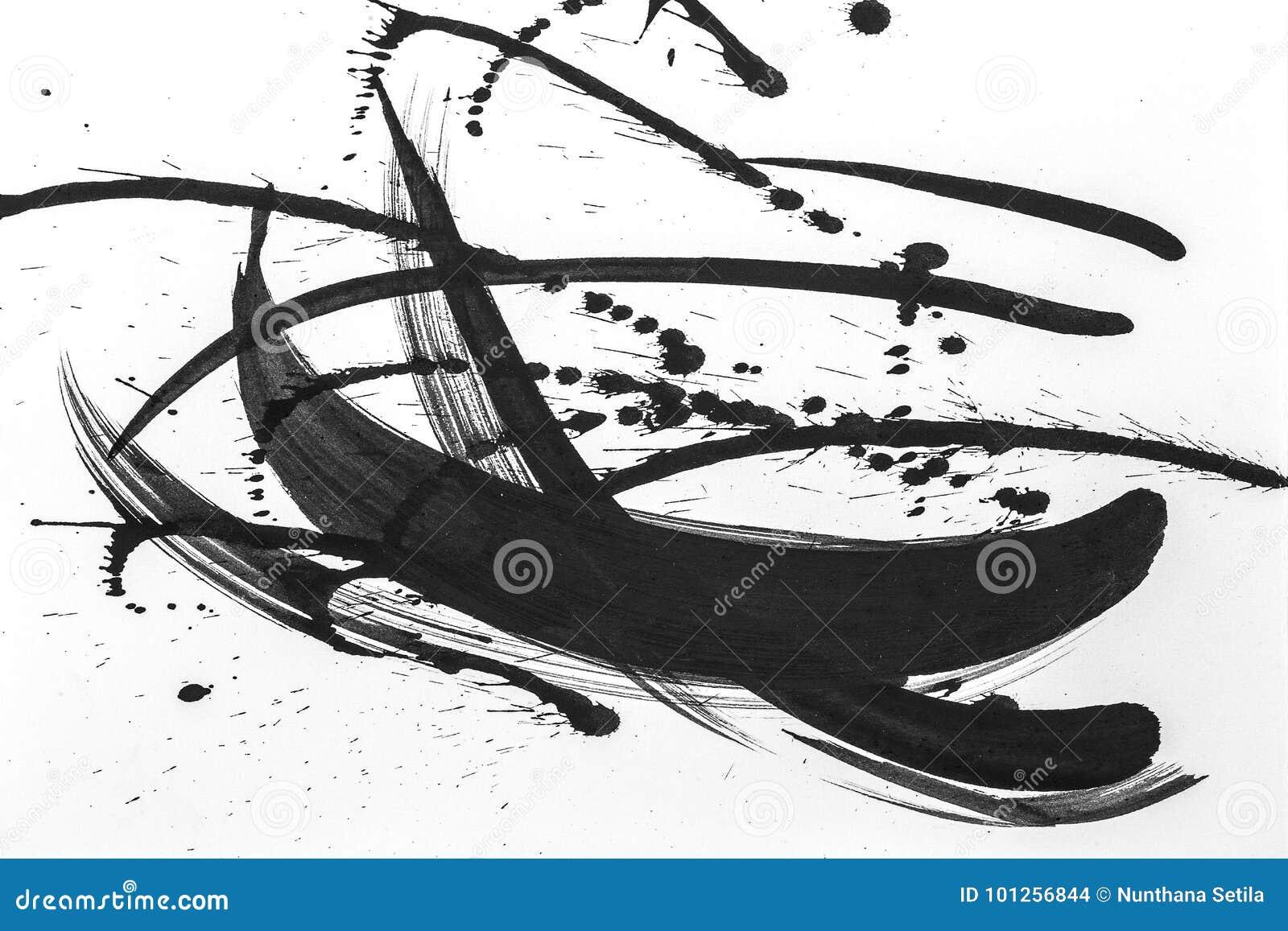 Los movimientos abstractos del cepillo y salpican de la pintura en el Libro Blanco Textura de la acuarela para el trabajo de arte