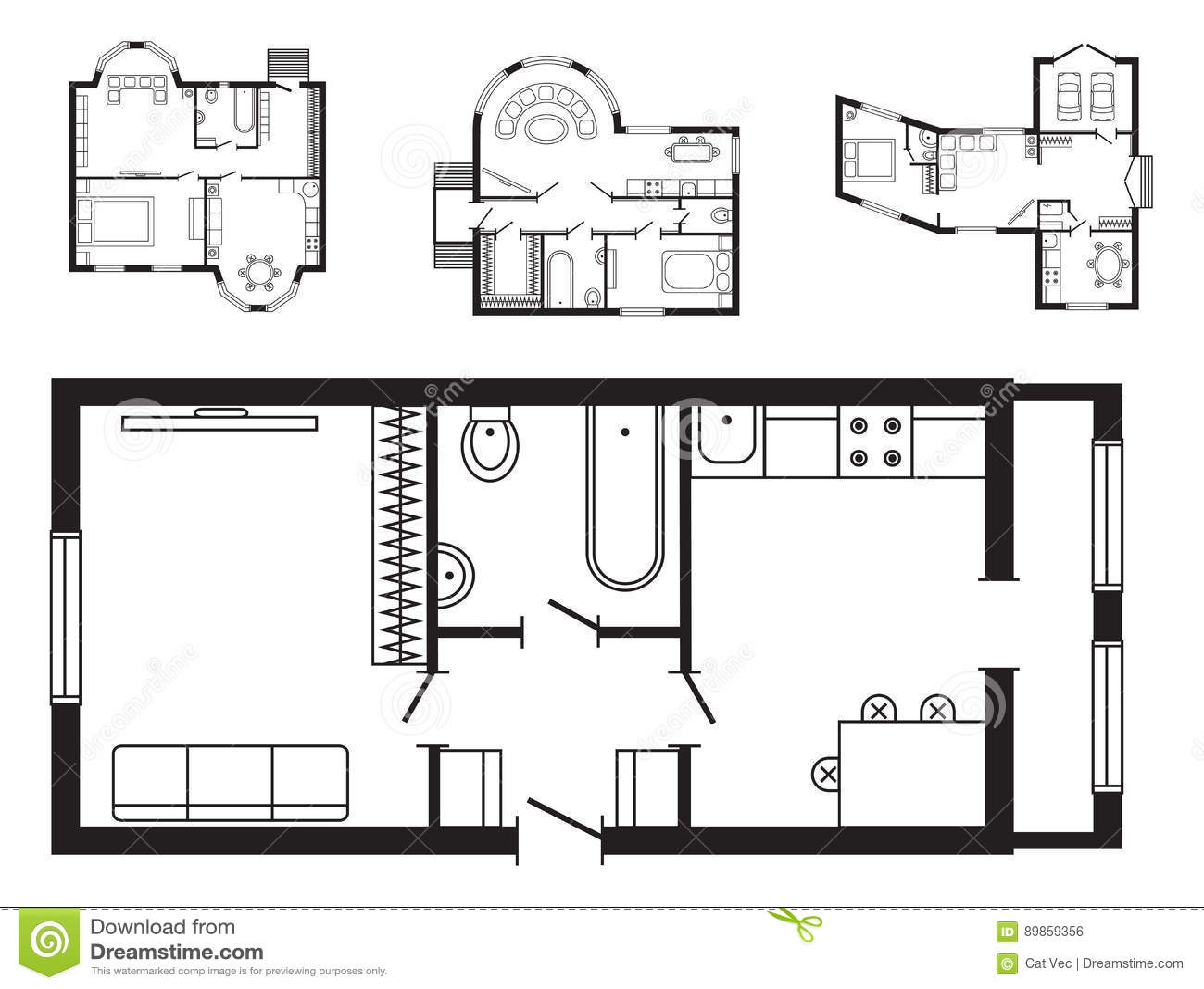 Los muebles del plan arquitect nico de la oficina y el for Dibujos de muebles para planos arquitectonicos