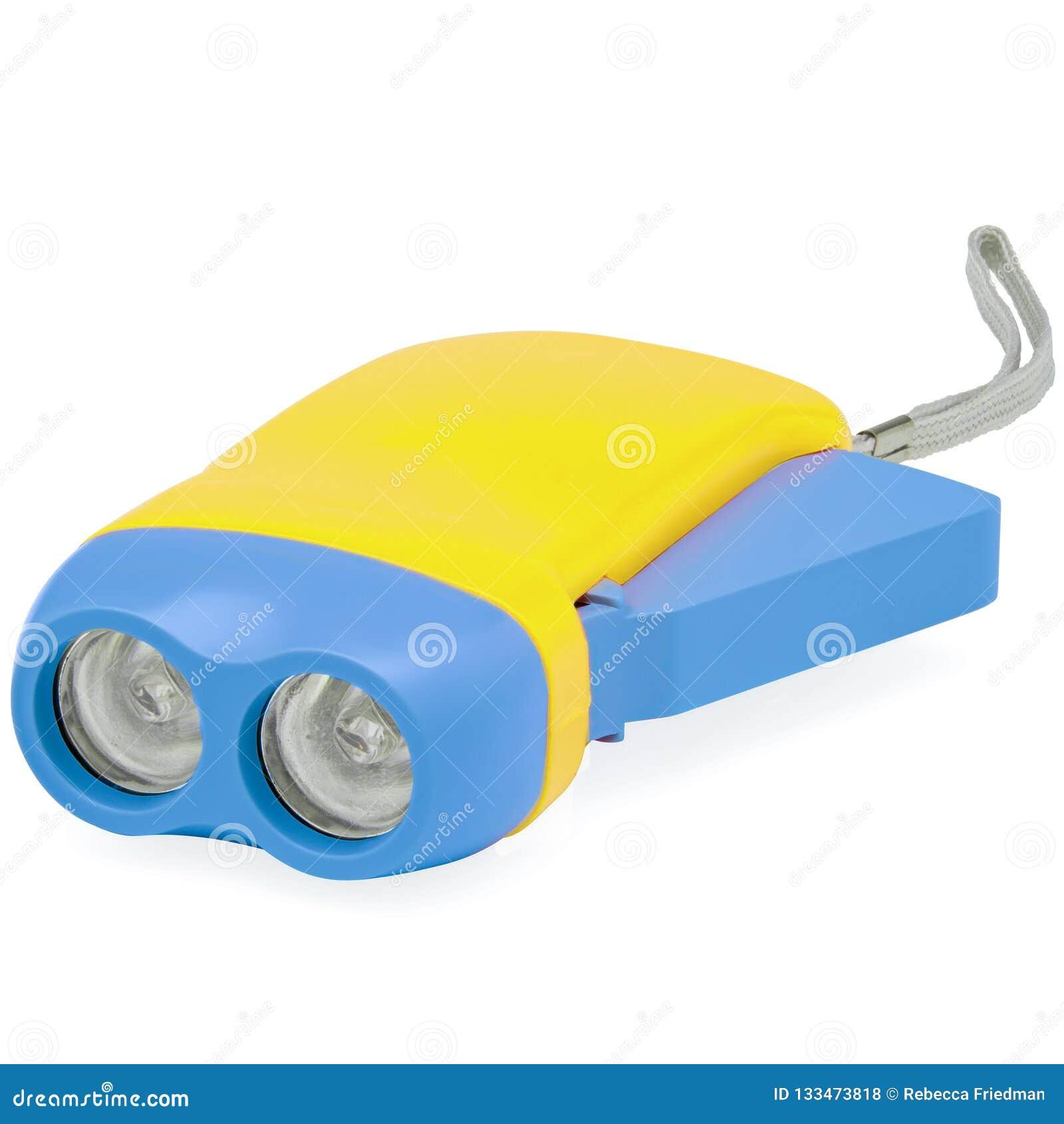 Los niños amarillos y azules de destello se encienden