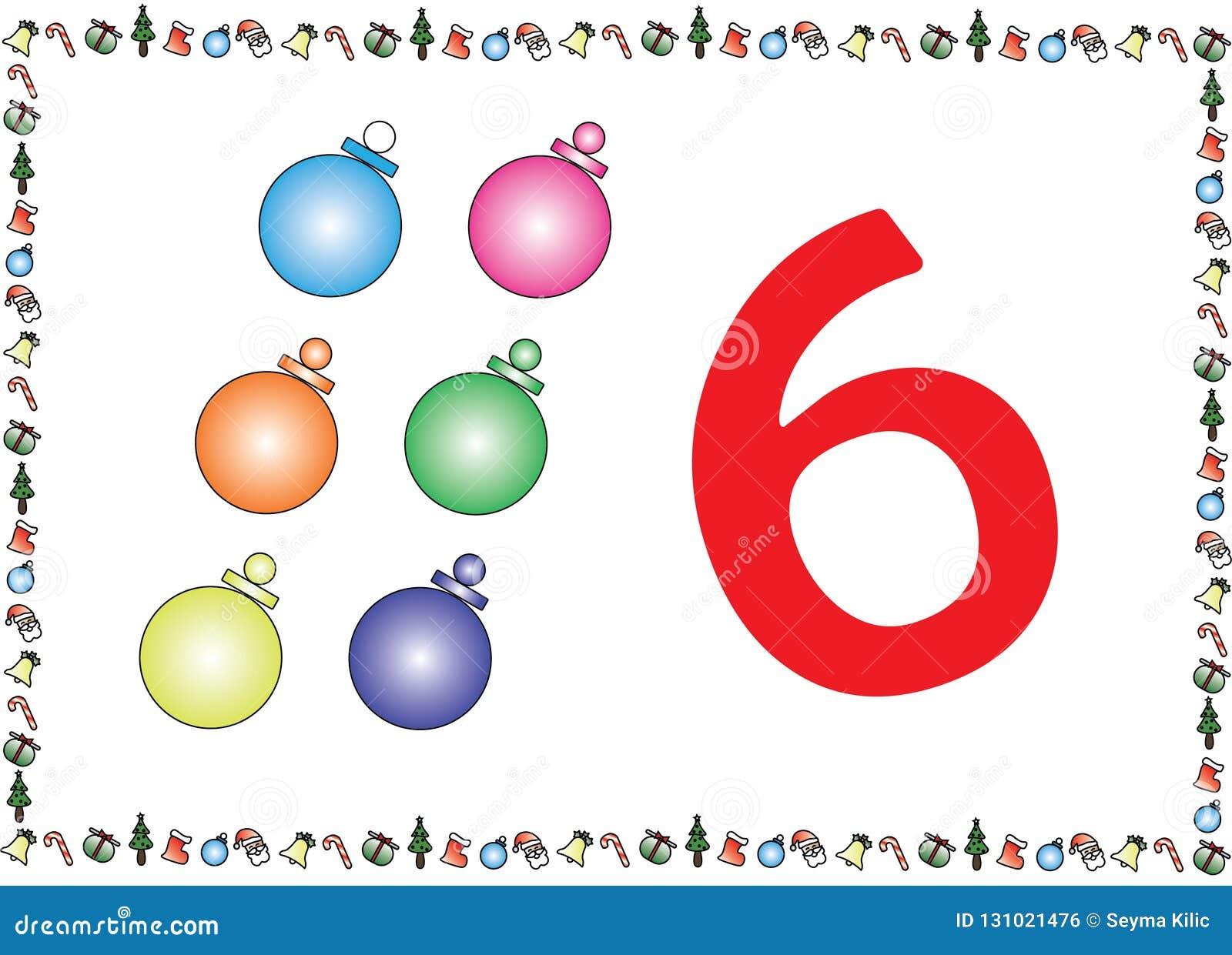 Los niños temáticos de la Navidad numeran las series 6