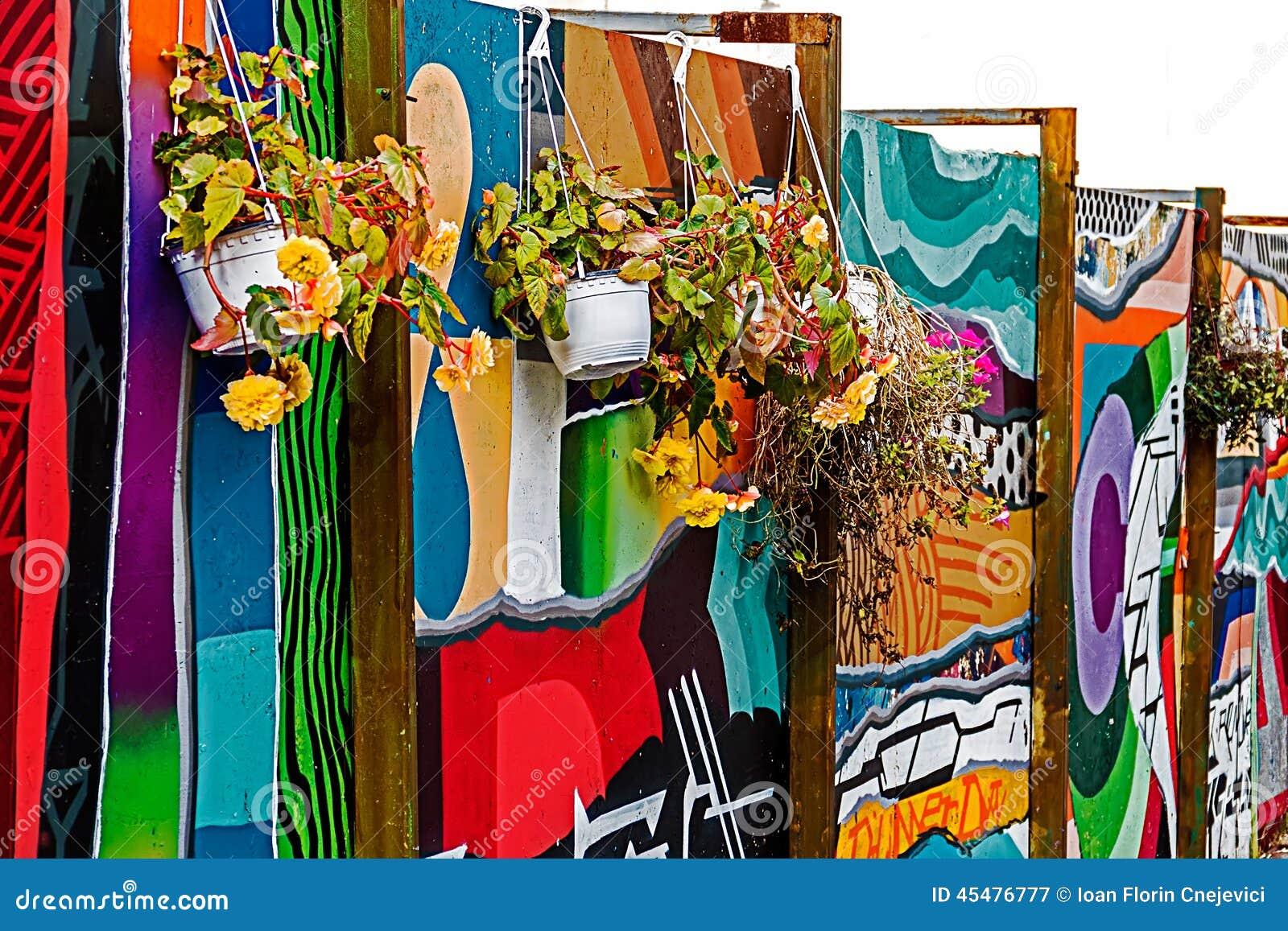 Los paneles pintados con la pintada