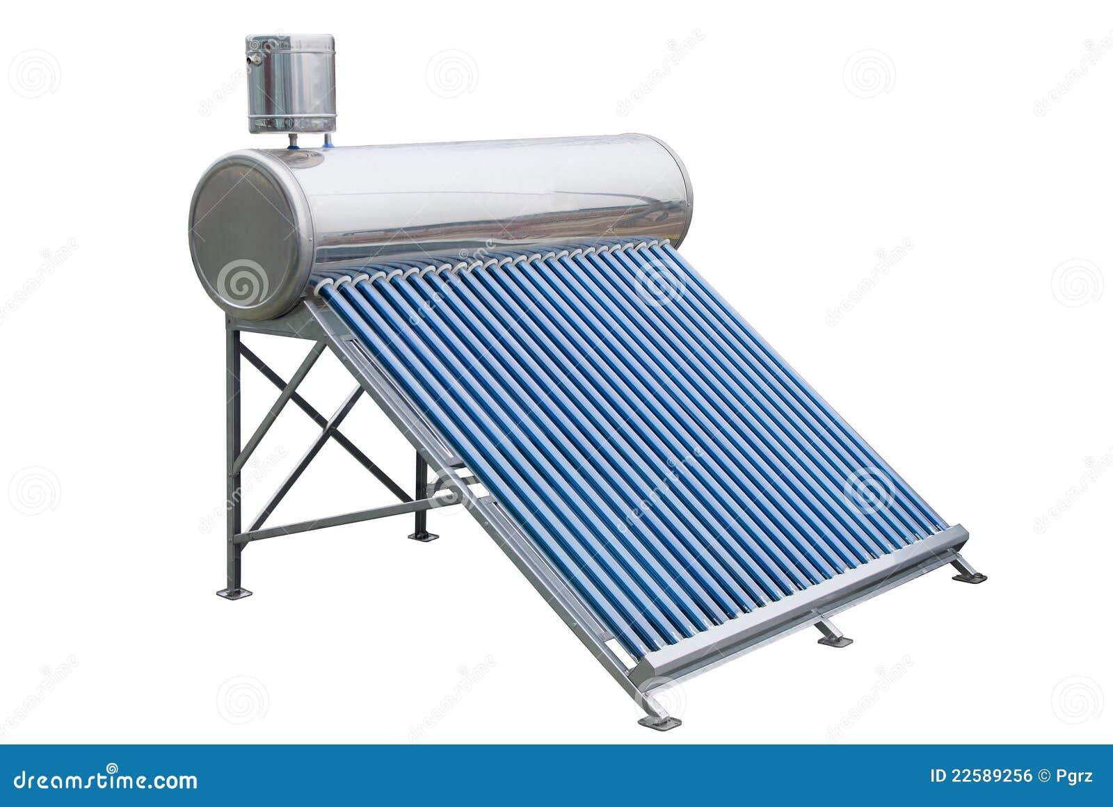 Los paneles solares para la agua caliente foto de archivo for Placas solares para calentar agua