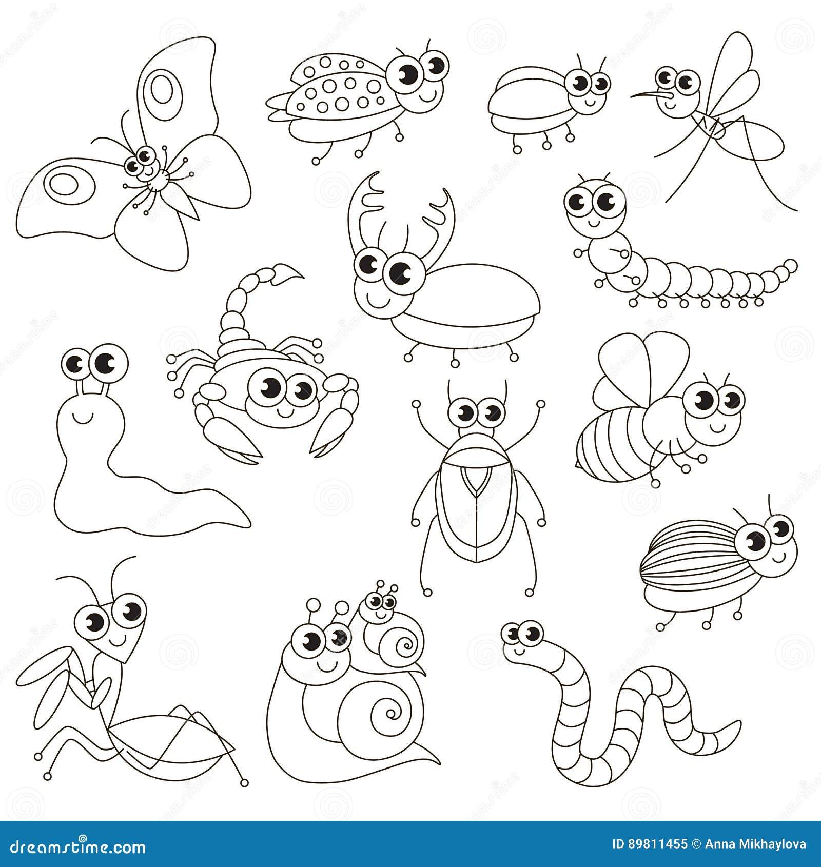 Los Pequeños Insectos Lindos Fijaron La Página Grande Que Se