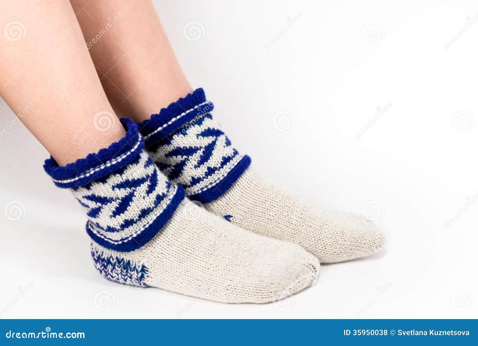 Los pies calientan calcetines