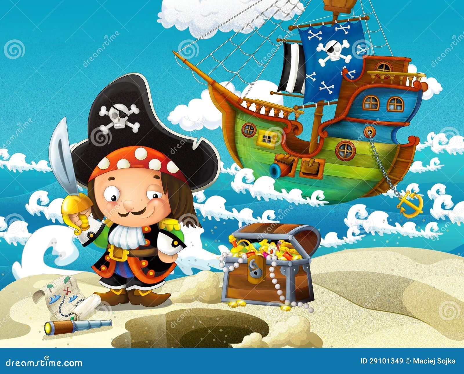 Los piratas, caza del tesoro
