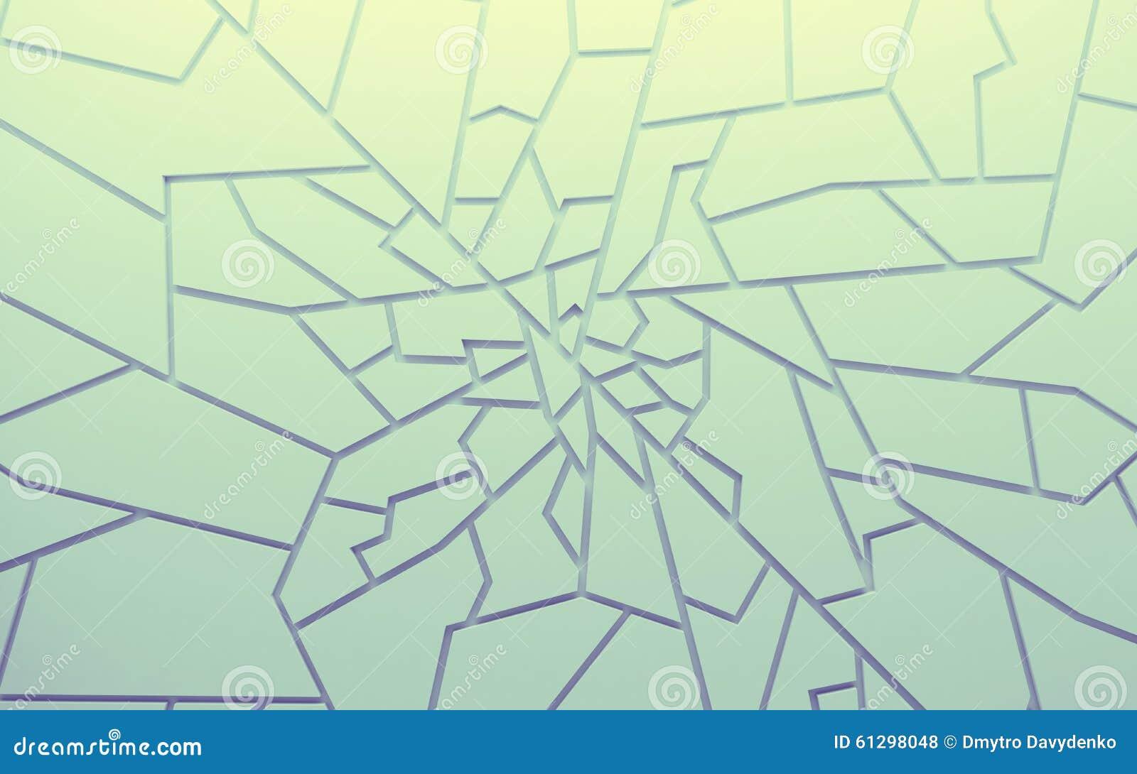 Los polígonos geométricos del extracto del color wallpaper, como pared de la grieta