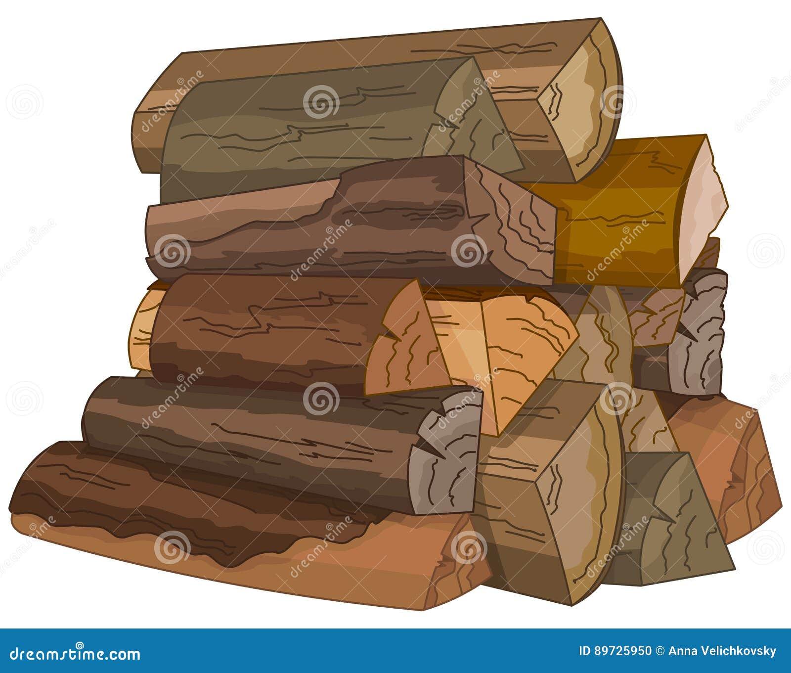 Los registros de la madera del fuego