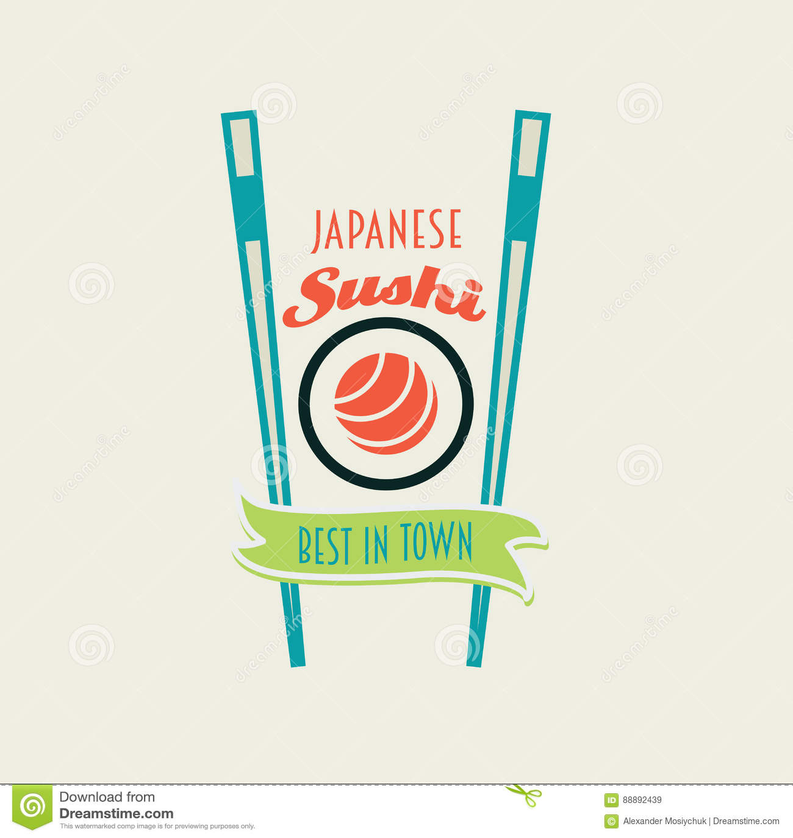 Los Rollos De Sushi Japoneses Vector El Logotipo, Los Etiquetan O ...
