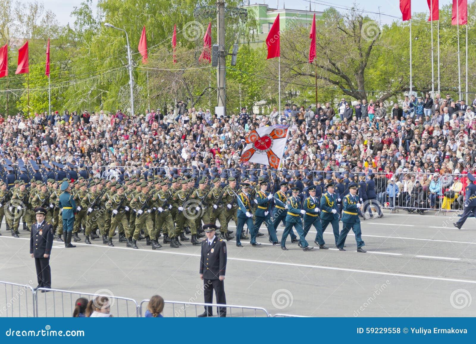 Download Los Soldados Rusos Marchan En El Desfile En Victory Day Anual Foto de archivo editorial - Imagen de marinero, indicador: 59229558