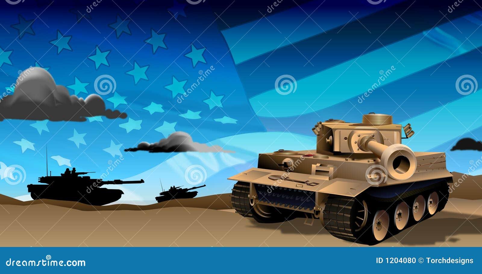 Los tanques en la noche