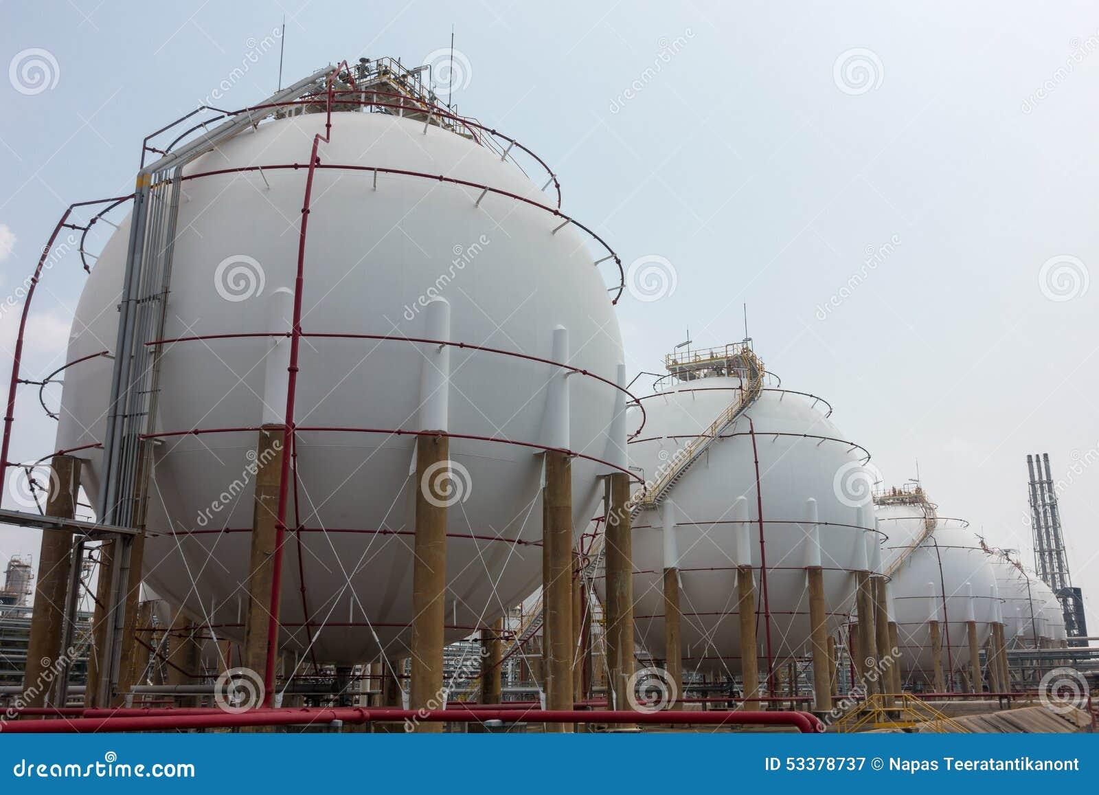 Tanques esfericos almacenamiento gas