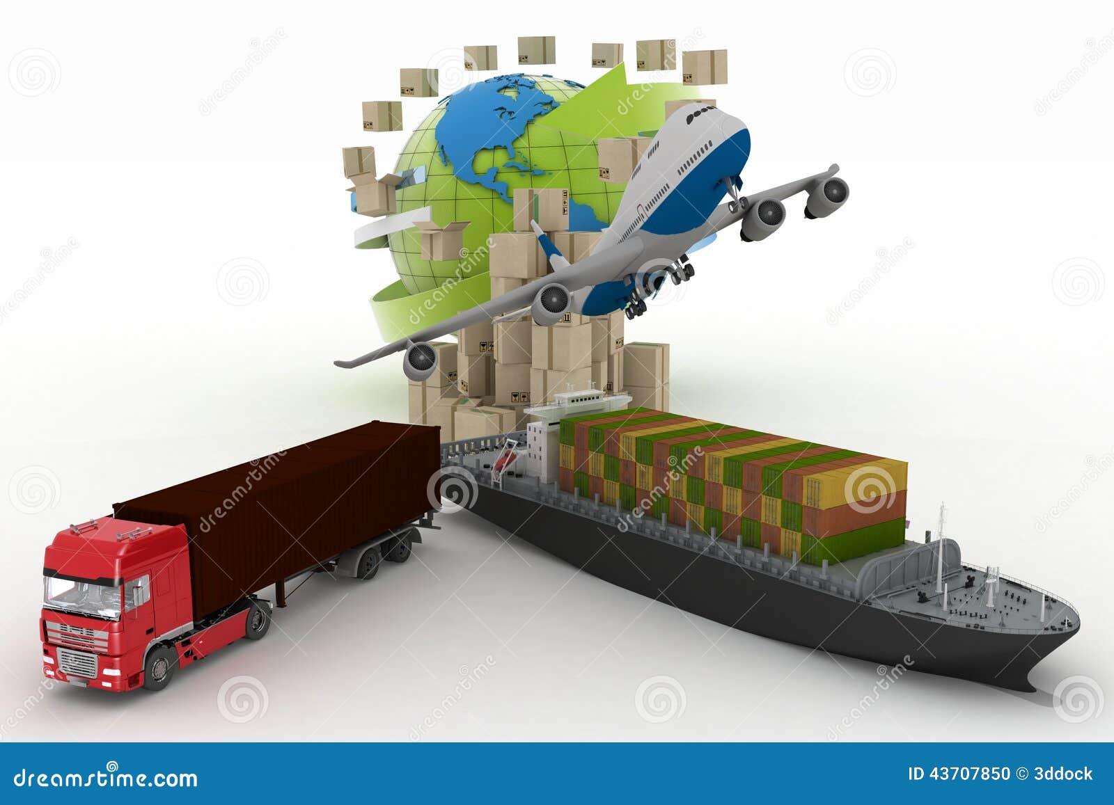 Los tipos de transporte del transporte son cargas