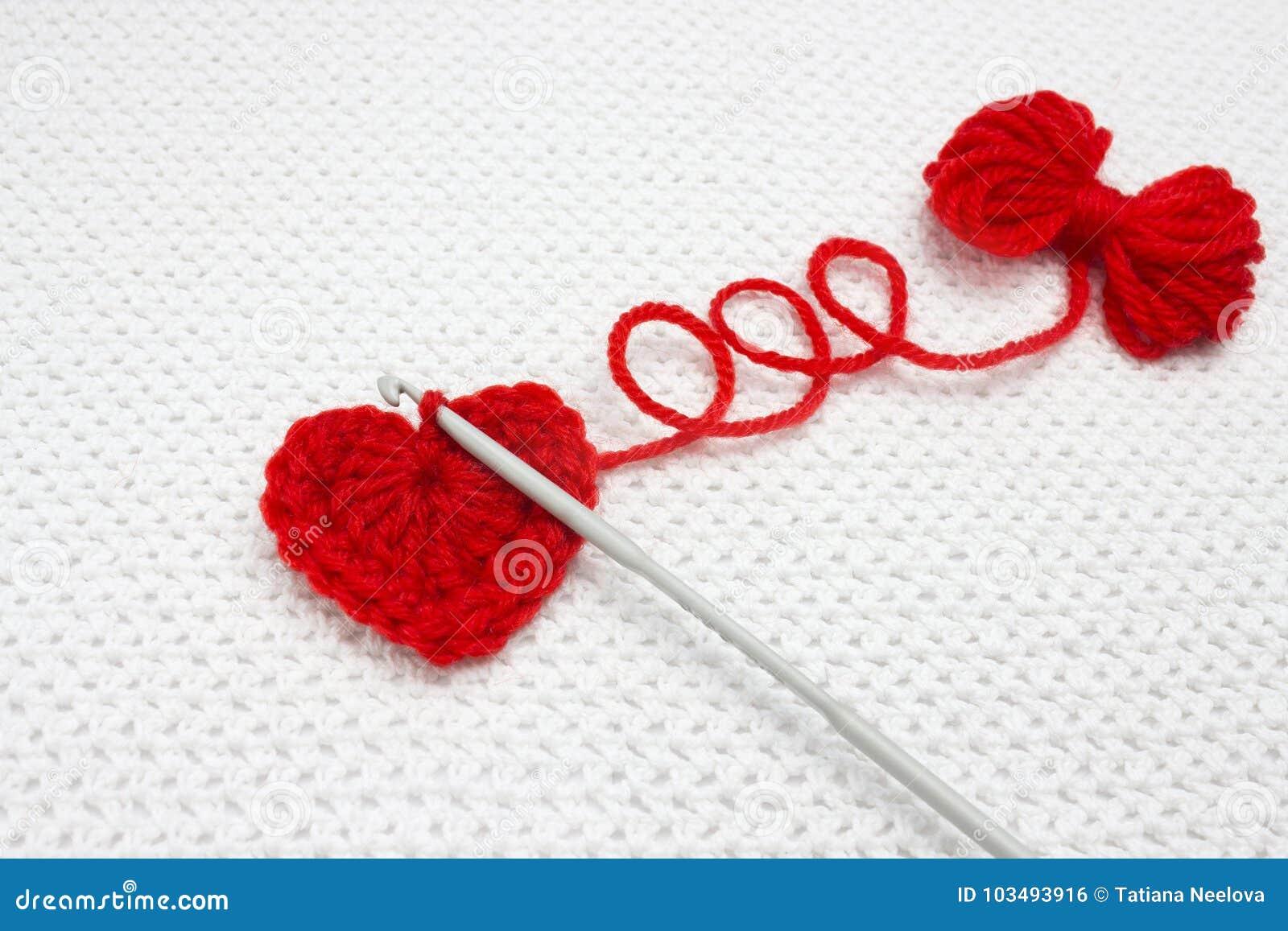 Increíble Patrones De Ganchillo Afgano Gratuitas Corazón Rojo ...