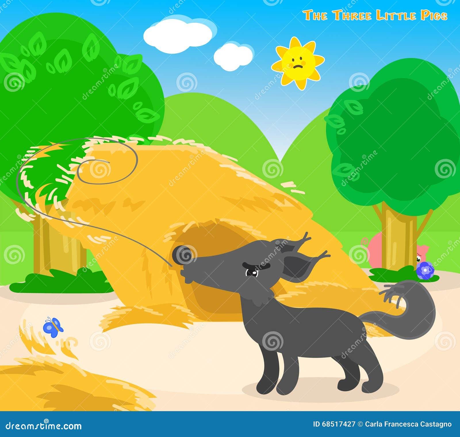 Los Tres Pequeños Cerdos 4: El Mún Lobo Grande Ilustración del ...