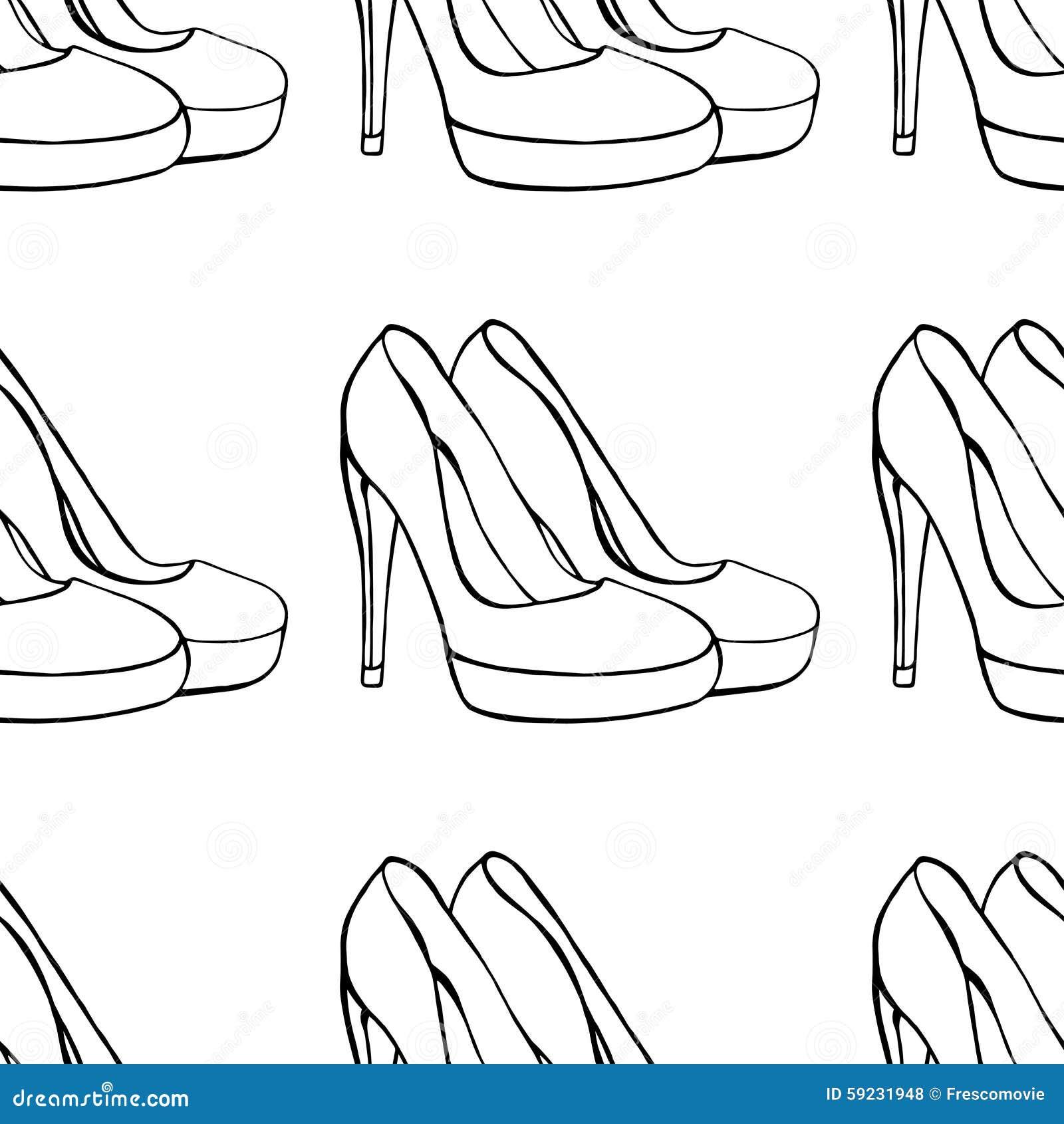 Download Los zapatos de las mujeres ilustración del vector. Ilustración de accesorio - 59231948