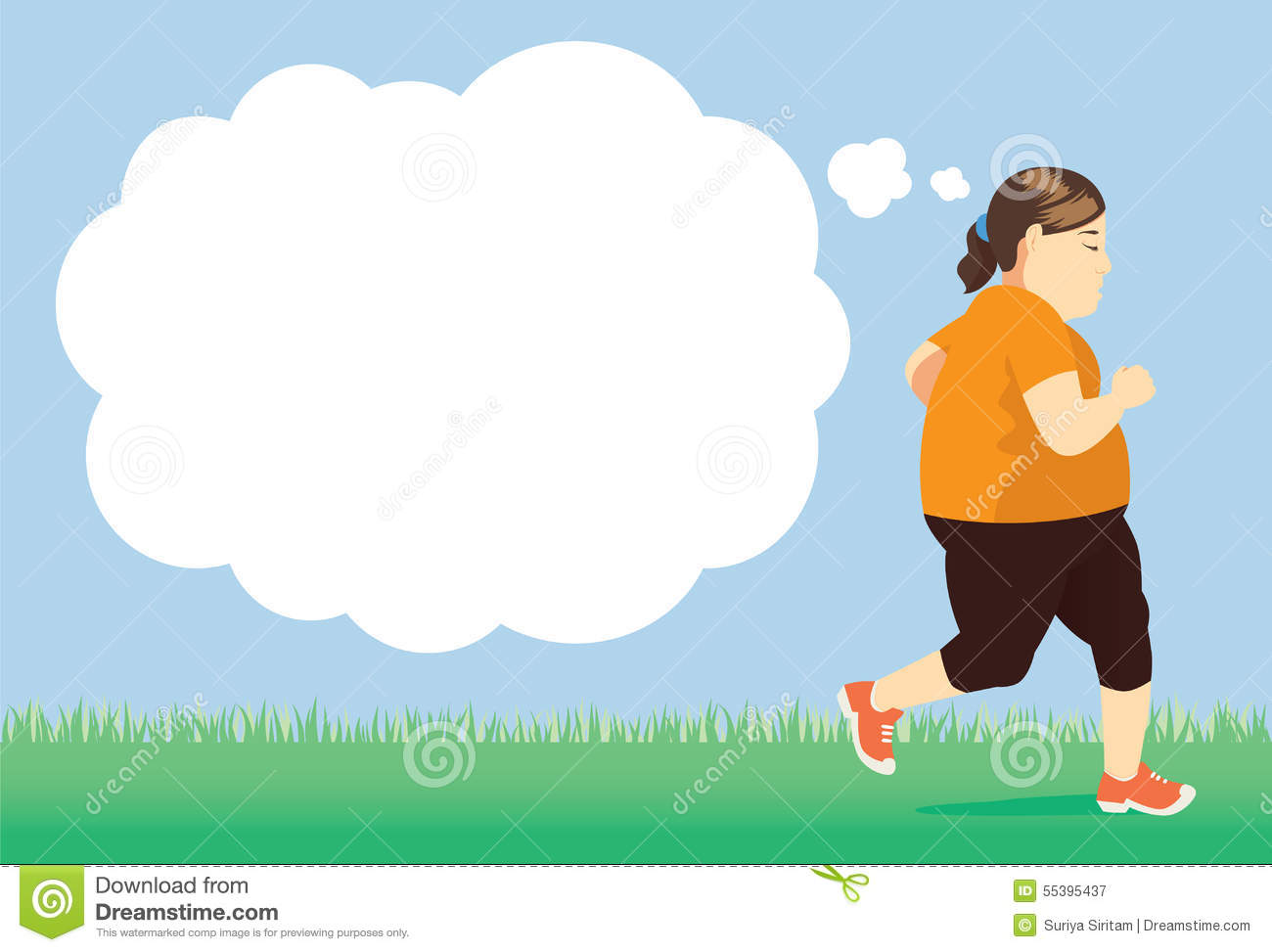 Lose weight with try jogging in park