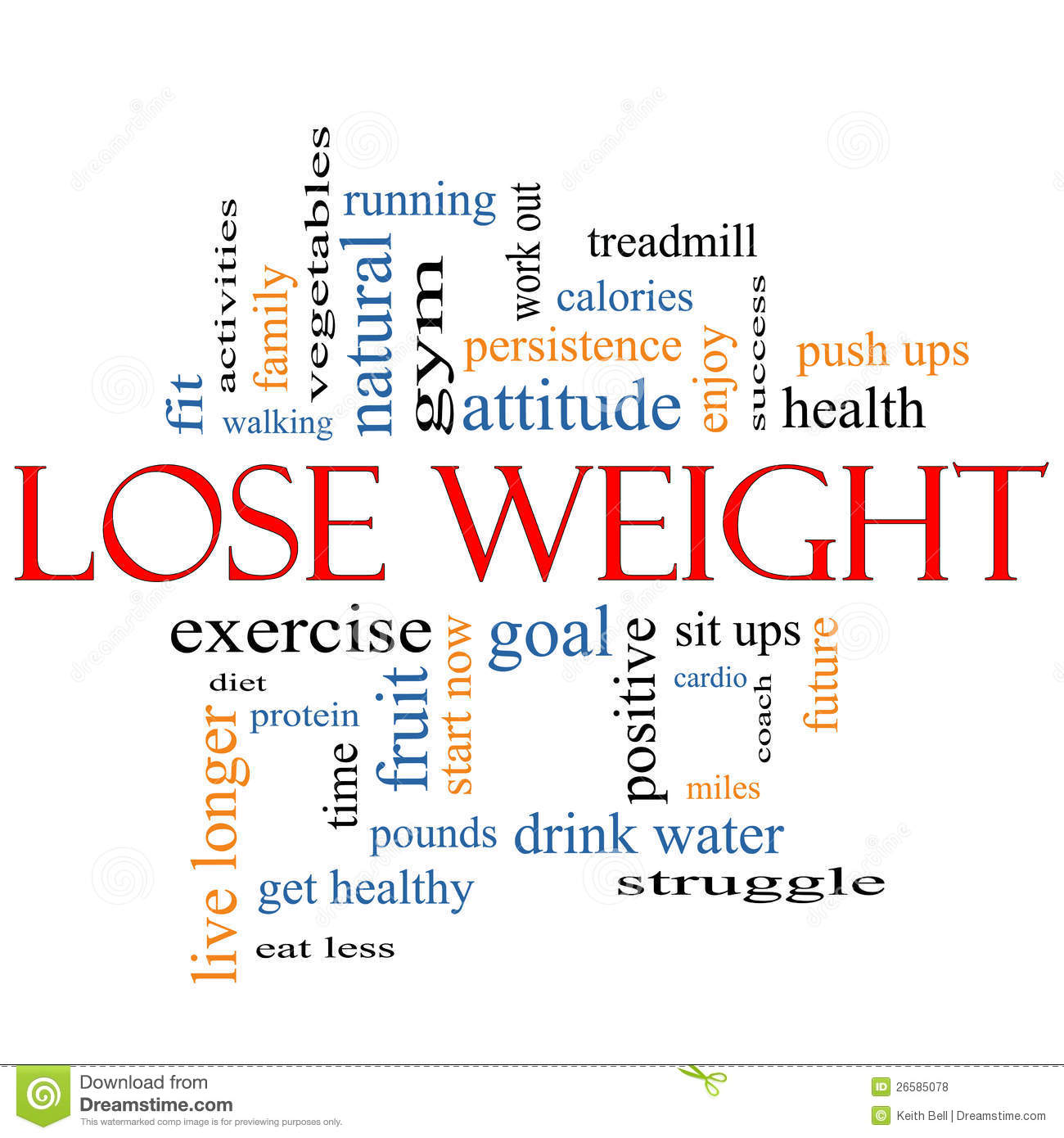 Workout Words: Lose Weight Word Cloud Concept Royalty Free Stock Photos