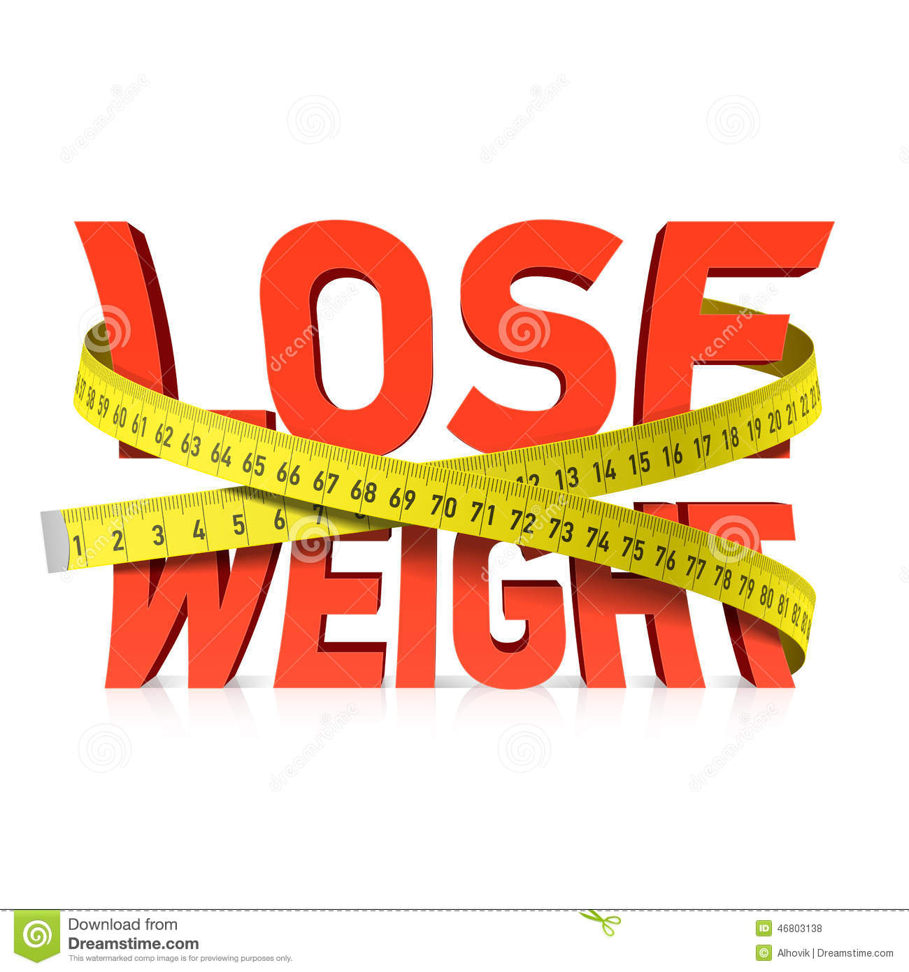 Lose Weight Word With Measuring Tape Concept Stock Vector ...