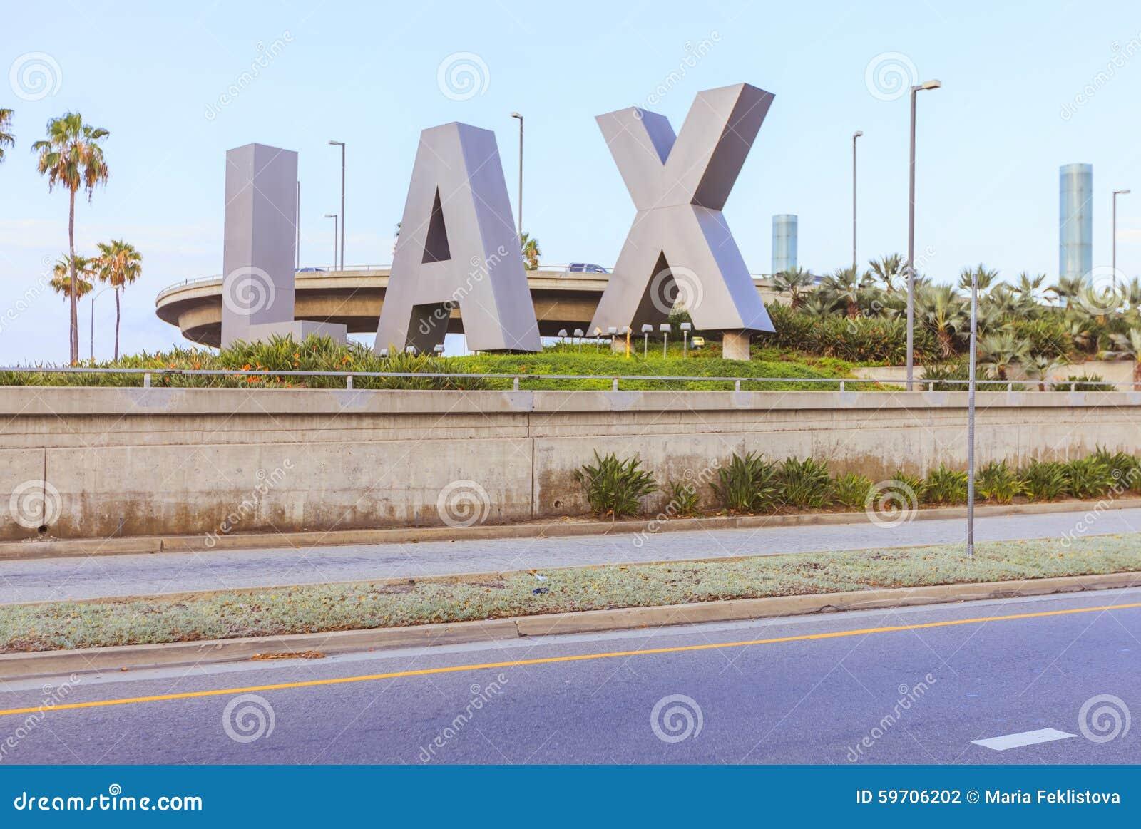 LOSSE brieven voor de Internationale Luchthaven van Los Angeles, de V.S.