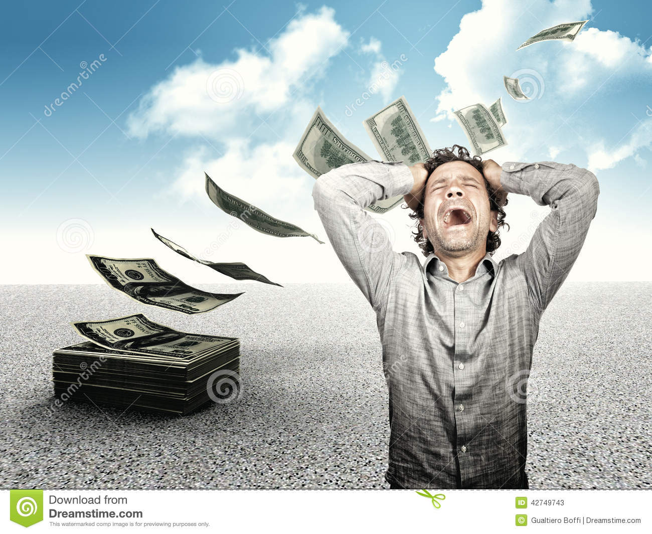 Lost All My Money Stock Photo - Image: 42749743