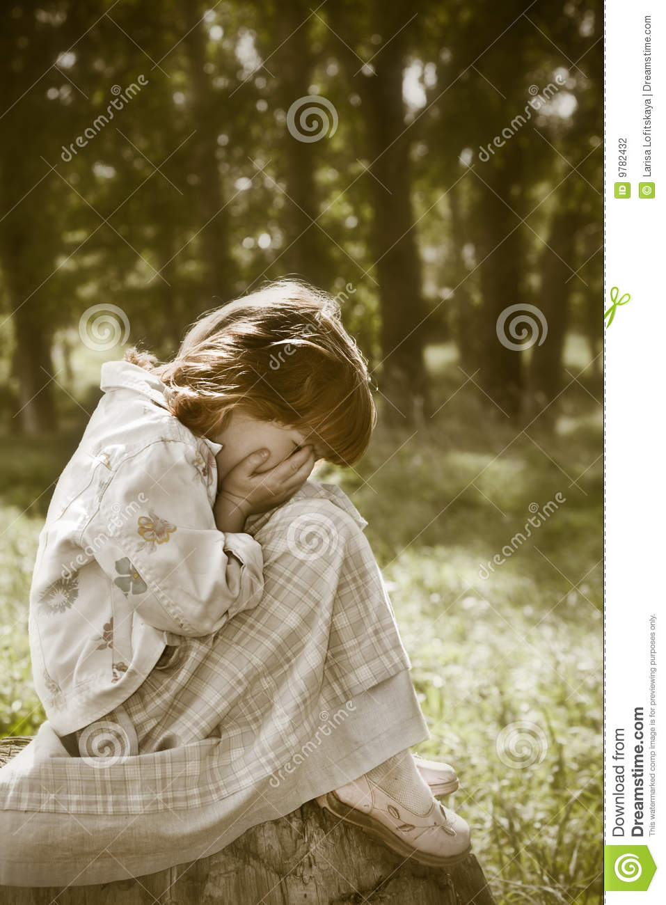 Lost child stock photo. Image of trees, light, summer ...